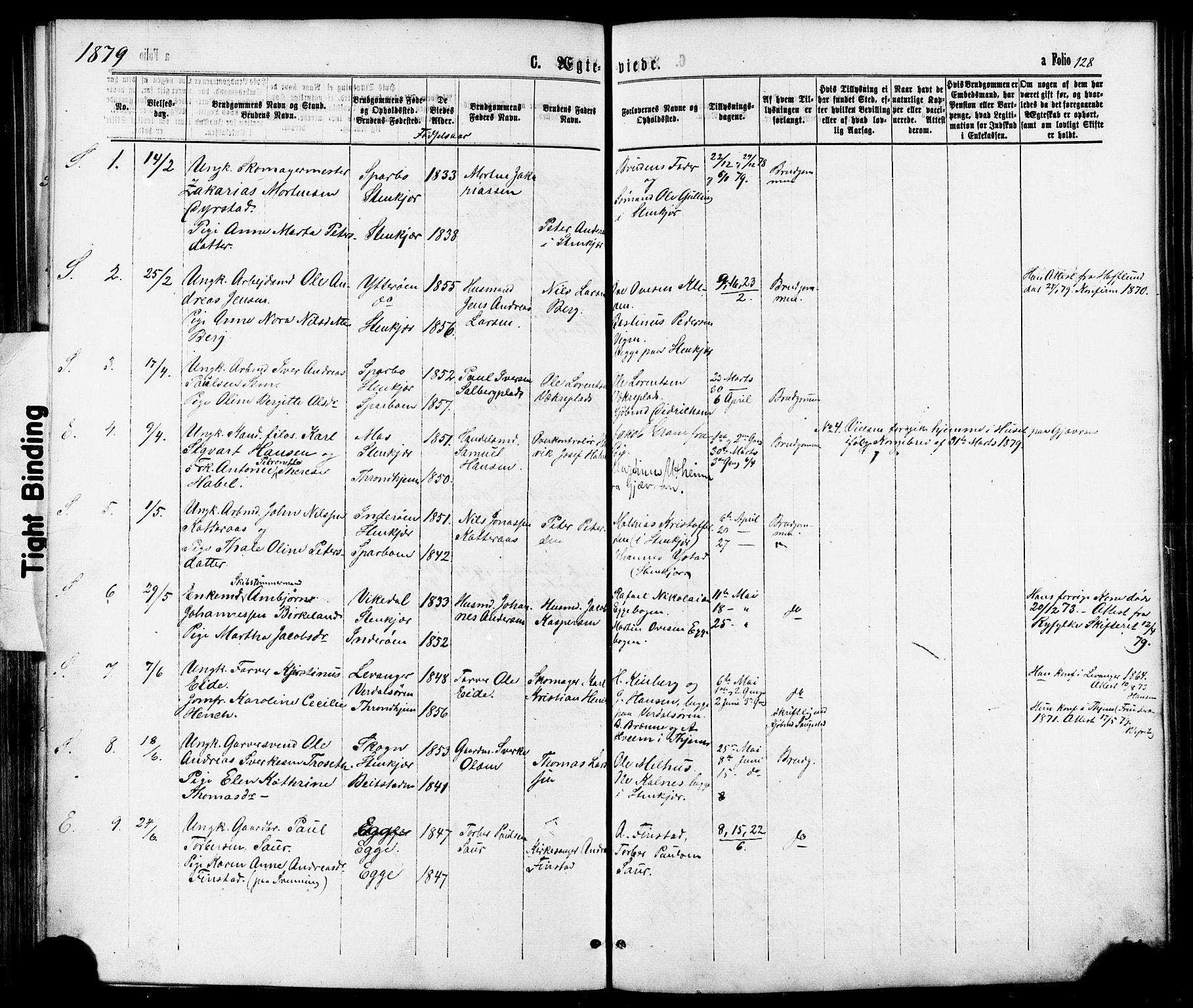 SAT, Ministerialprotokoller, klokkerbøker og fødselsregistre - Nord-Trøndelag, 739/L0370: Ministerialbok nr. 739A02, 1868-1881, s. 128