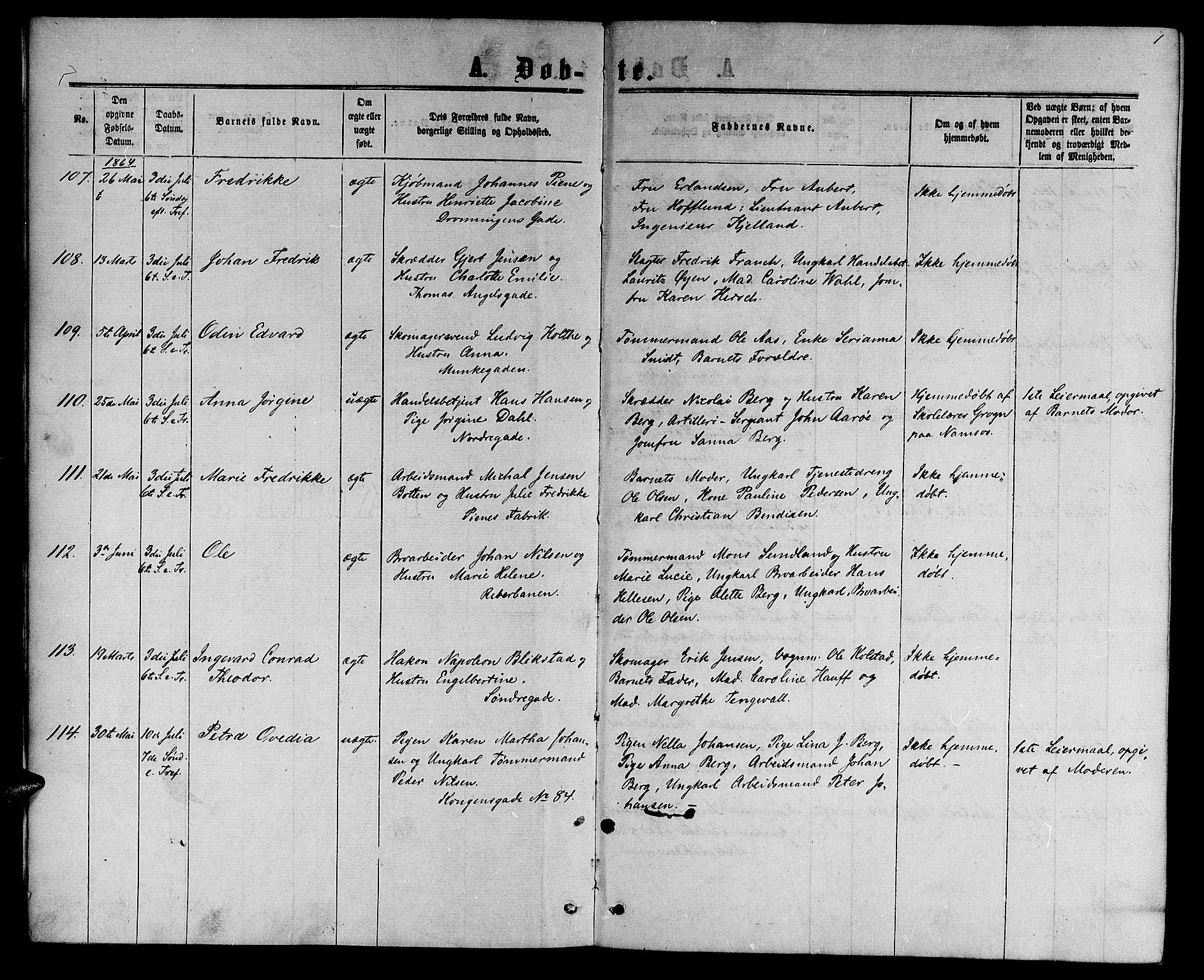 SAT, Ministerialprotokoller, klokkerbøker og fødselsregistre - Sør-Trøndelag, 601/L0087: Klokkerbok nr. 601C05, 1864-1881, s. 1