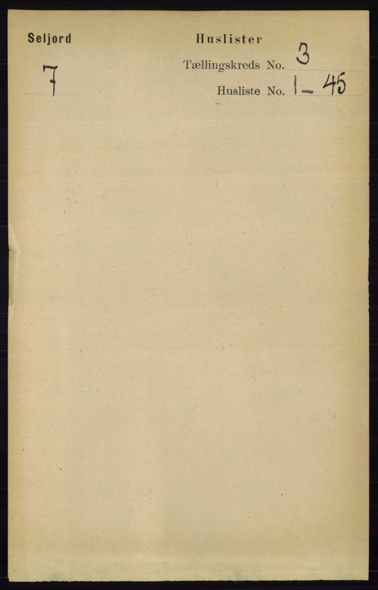 RA, Folketelling 1891 for 0828 Seljord herred, 1891, s. 934