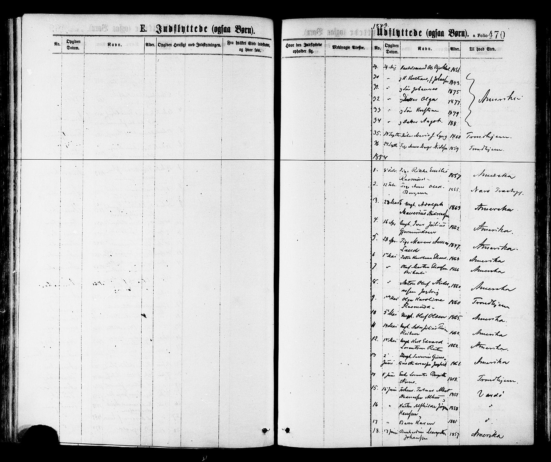SAT, Ministerialprotokoller, klokkerbøker og fødselsregistre - Nord-Trøndelag, 768/L0572: Ministerialbok nr. 768A07, 1874-1886, s. 470