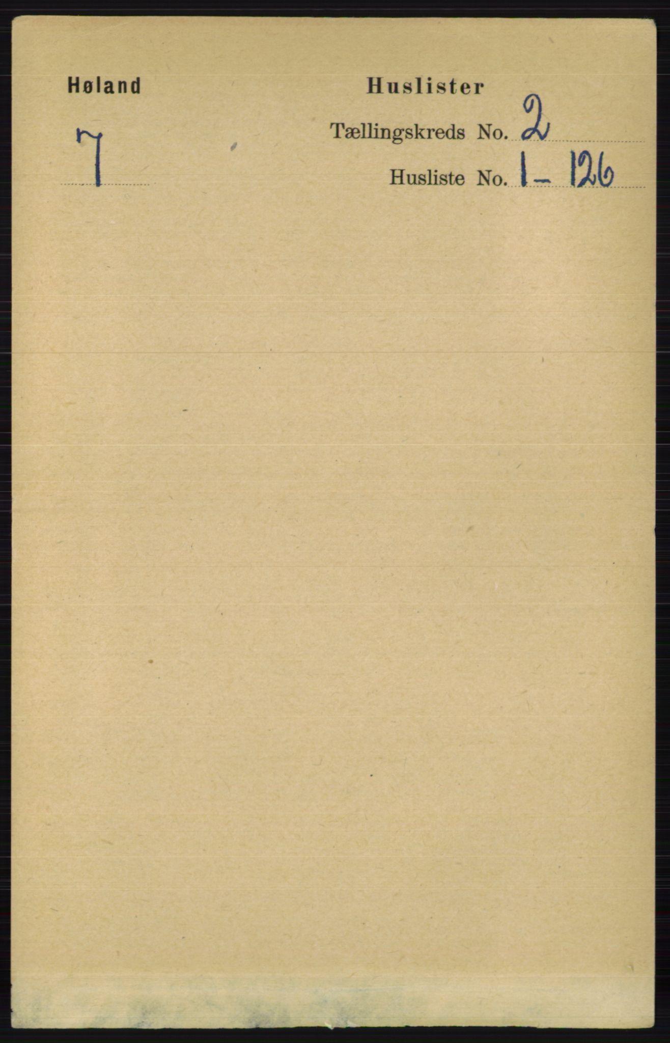 RA, Folketelling 1891 for 0221 Høland herred, 1891, s. 804
