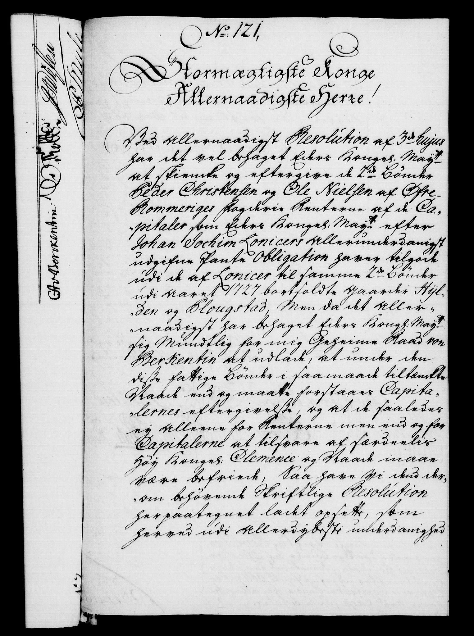 RA, Rentekammeret, Kammerkanselliet, G/Gf/Gfa/L0025: Norsk relasjons- og resolusjonsprotokoll (merket RK 52.25), 1742, s. 722