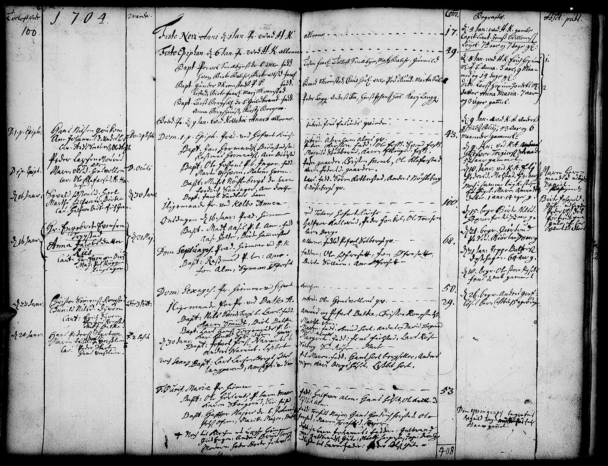 SAH, Toten prestekontor, Ministerialbok nr. 1, 1695-1713, s. 100