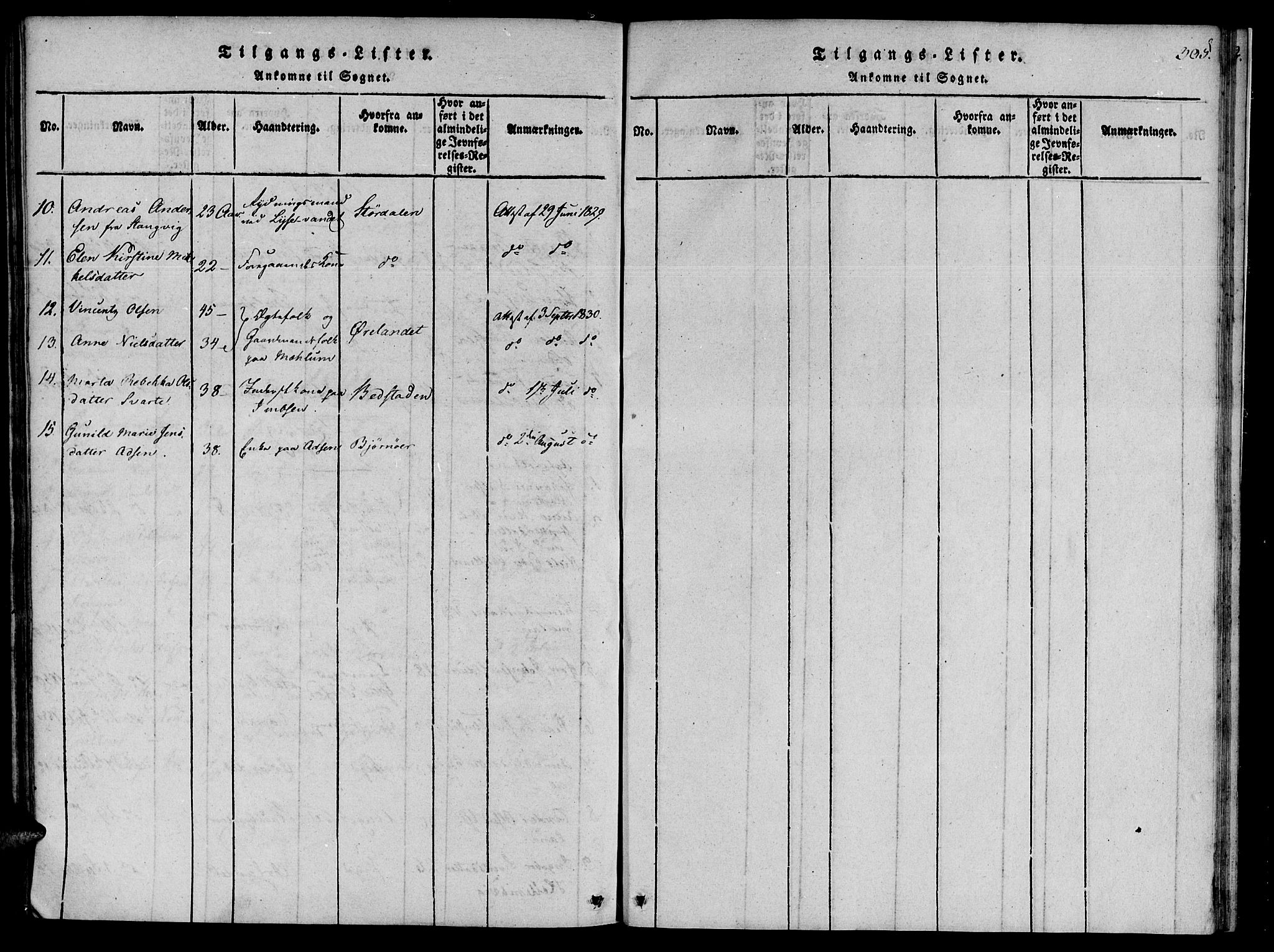 SAT, Ministerialprotokoller, klokkerbøker og fødselsregistre - Sør-Trøndelag, 655/L0675: Ministerialbok nr. 655A04, 1818-1830, s. 301