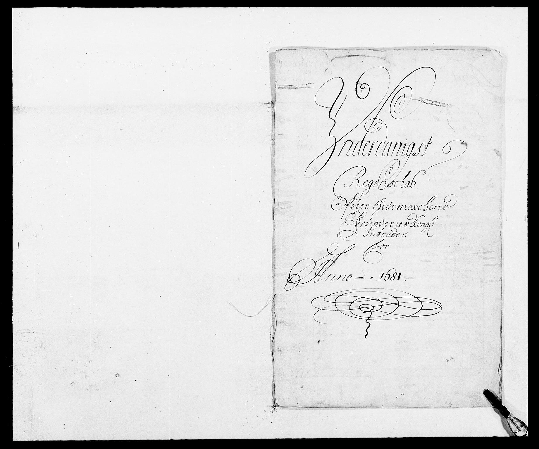 RA, Rentekammeret inntil 1814, Reviderte regnskaper, Fogderegnskap, R16/L1021: Fogderegnskap Hedmark, 1681, s. 1