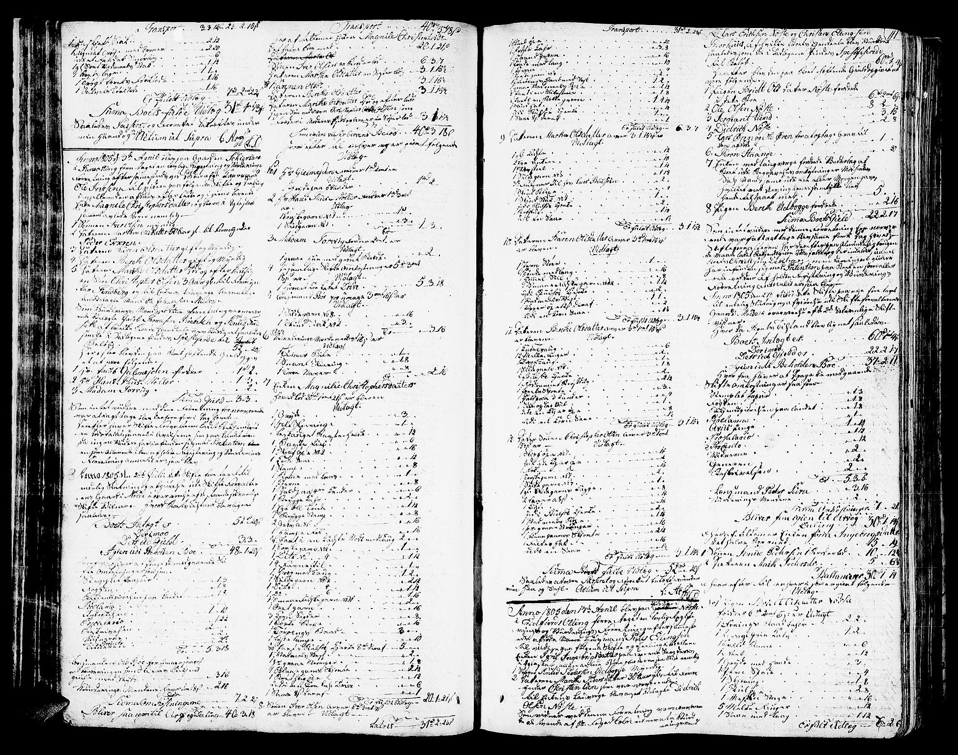 SAT, Romsdal sorenskriveri, 3/3A/L0013: Skifteprotokoll, 1802-1812, s. 110b-111a
