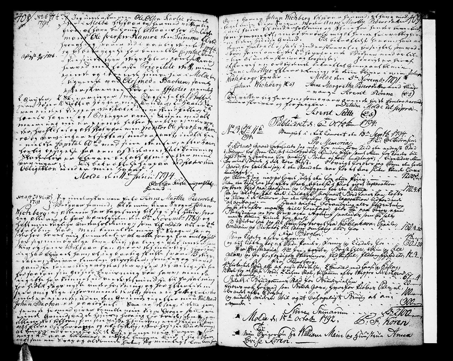 SAT, Molde byfogd, 2/2C/L0001: Pantebok nr. 1, 1748-1823, s. 408-409
