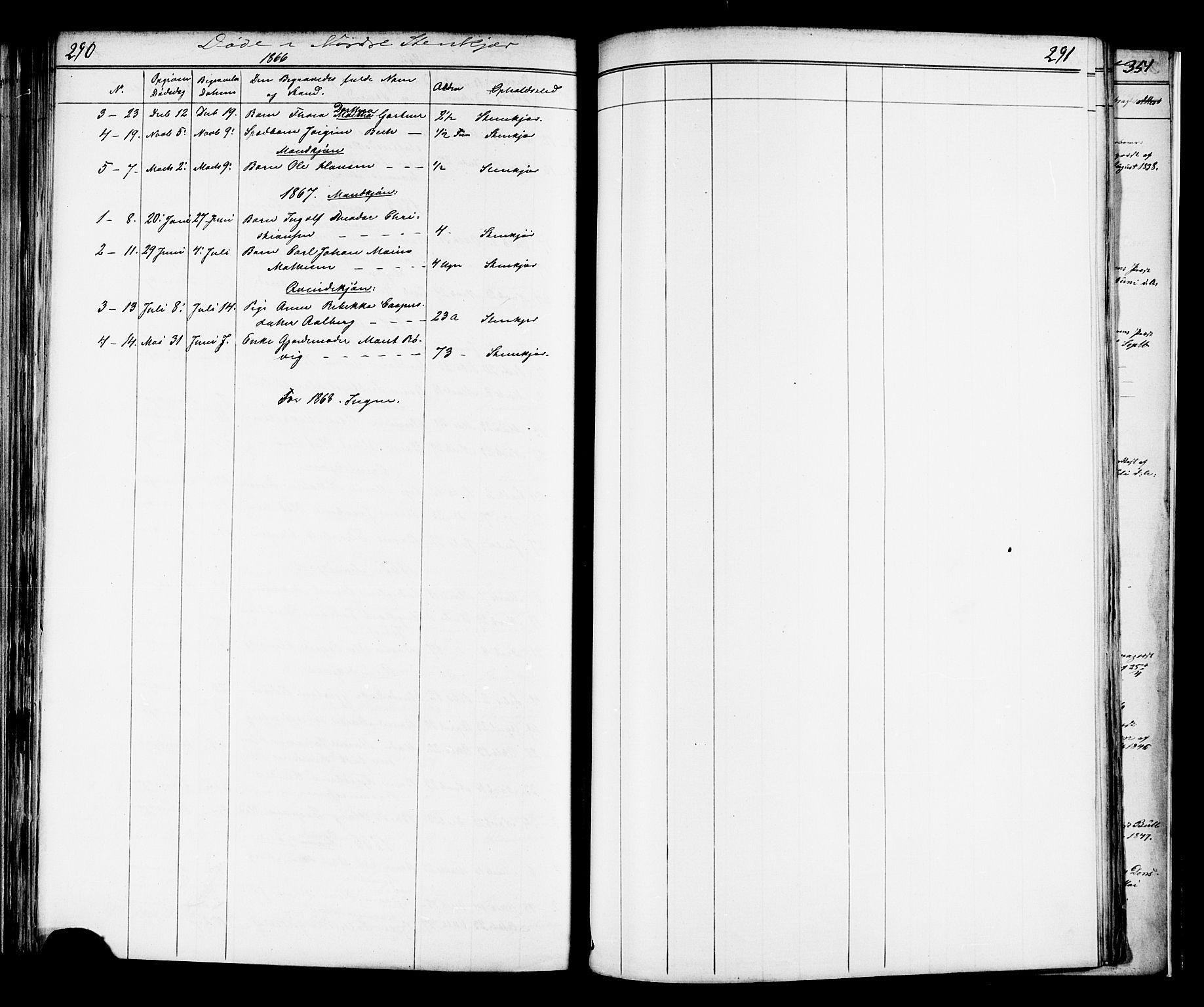 SAT, Ministerialprotokoller, klokkerbøker og fødselsregistre - Nord-Trøndelag, 739/L0367: Ministerialbok nr. 739A01 /2, 1838-1868, s. 290-291