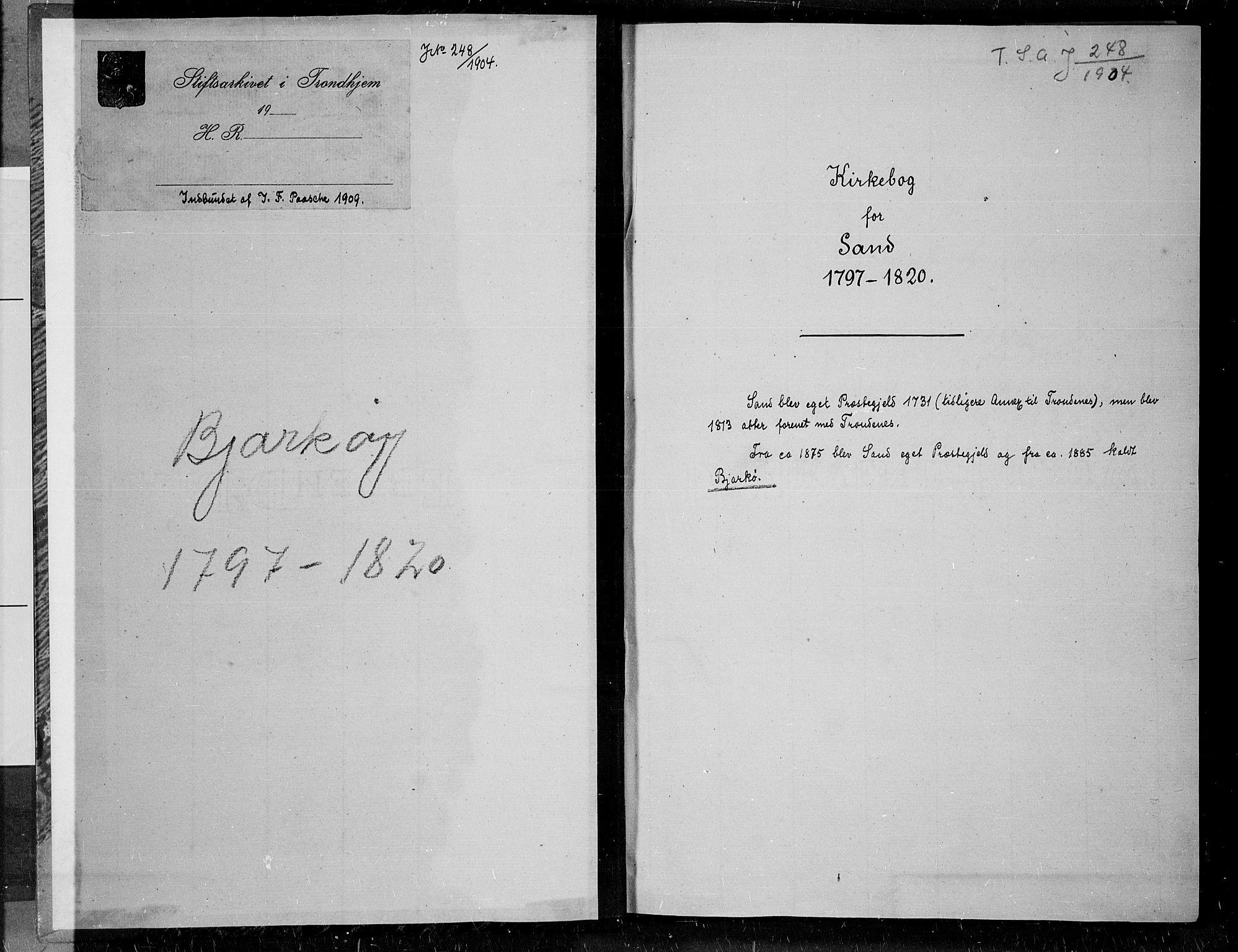 SATØ, Trondenes sokneprestkontor, H/Ha/L0004kirke: Ministerialbok nr. 4, 1797-1820