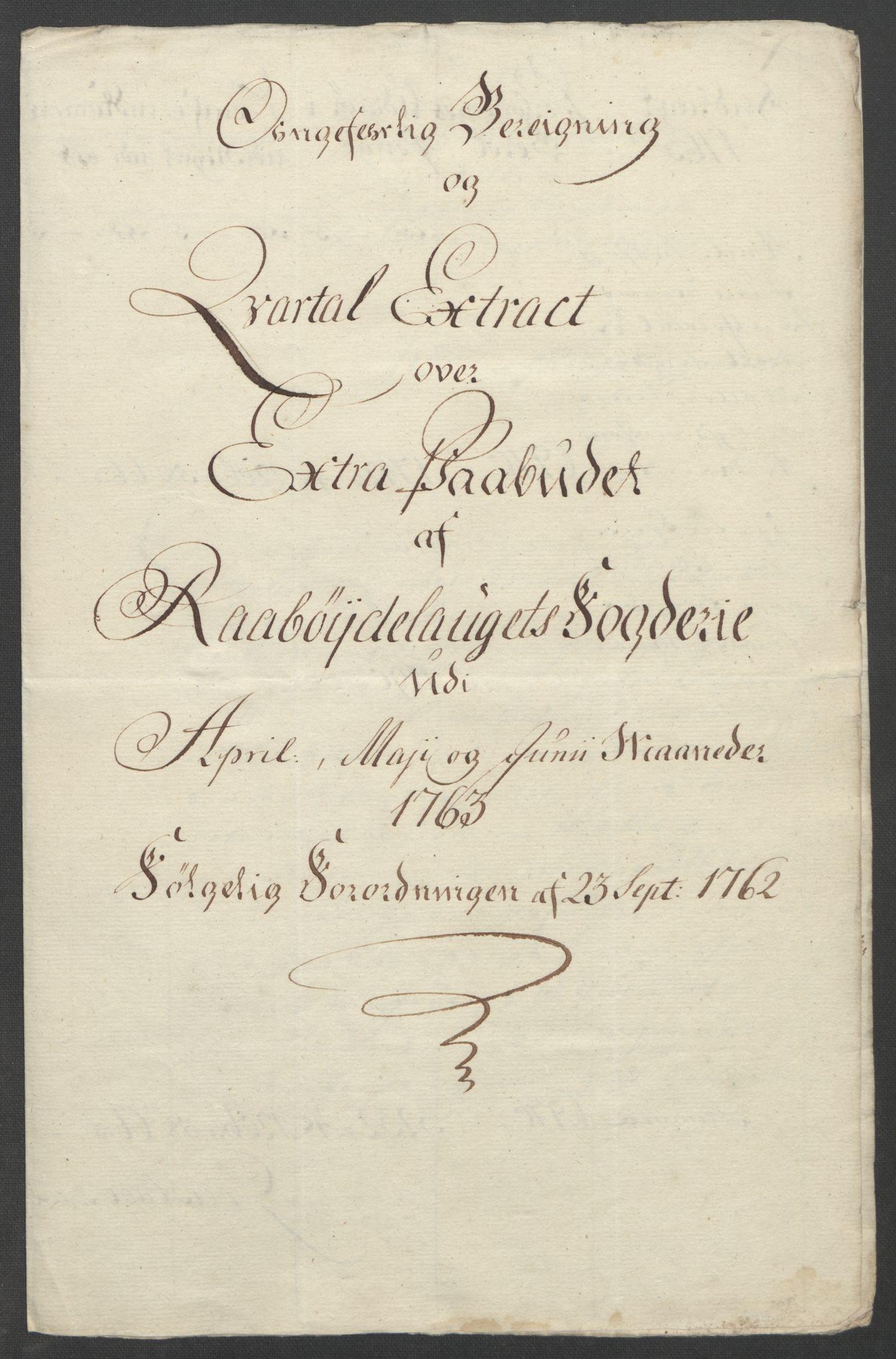 RA, Rentekammeret inntil 1814, Reviderte regnskaper, Fogderegnskap, R40/L2517: Ekstraskatten Råbyggelag, 1762-1763, s. 568