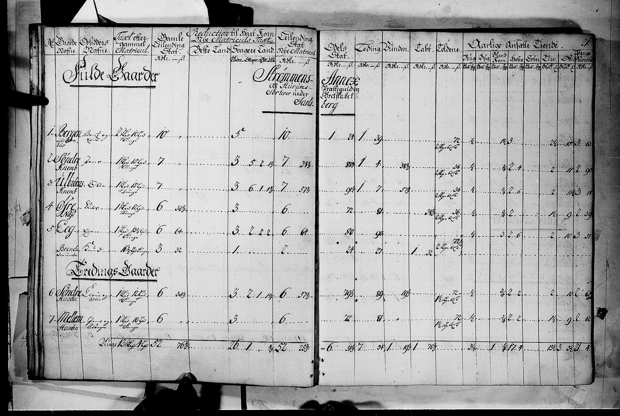 RA, Rentekammeret inntil 1814, Realistisk ordnet avdeling, N/Nb/Nbf/L0116: Jarlsberg grevskap matrikkelprotokoll, 1723, s. 20b-21a