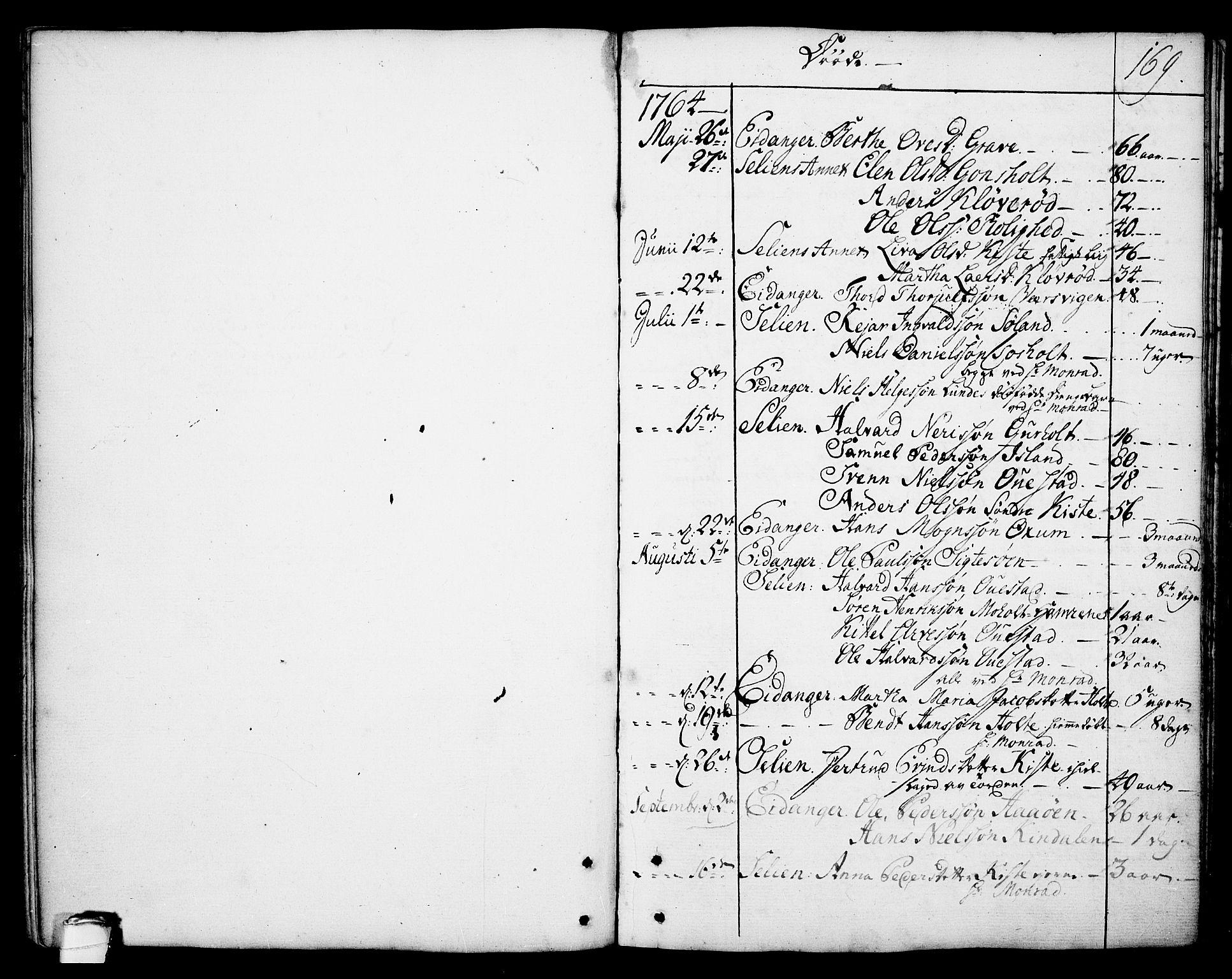 SAKO, Eidanger kirkebøker, F/Fa/L0006: Ministerialbok nr. 6, 1764-1814, s. 169