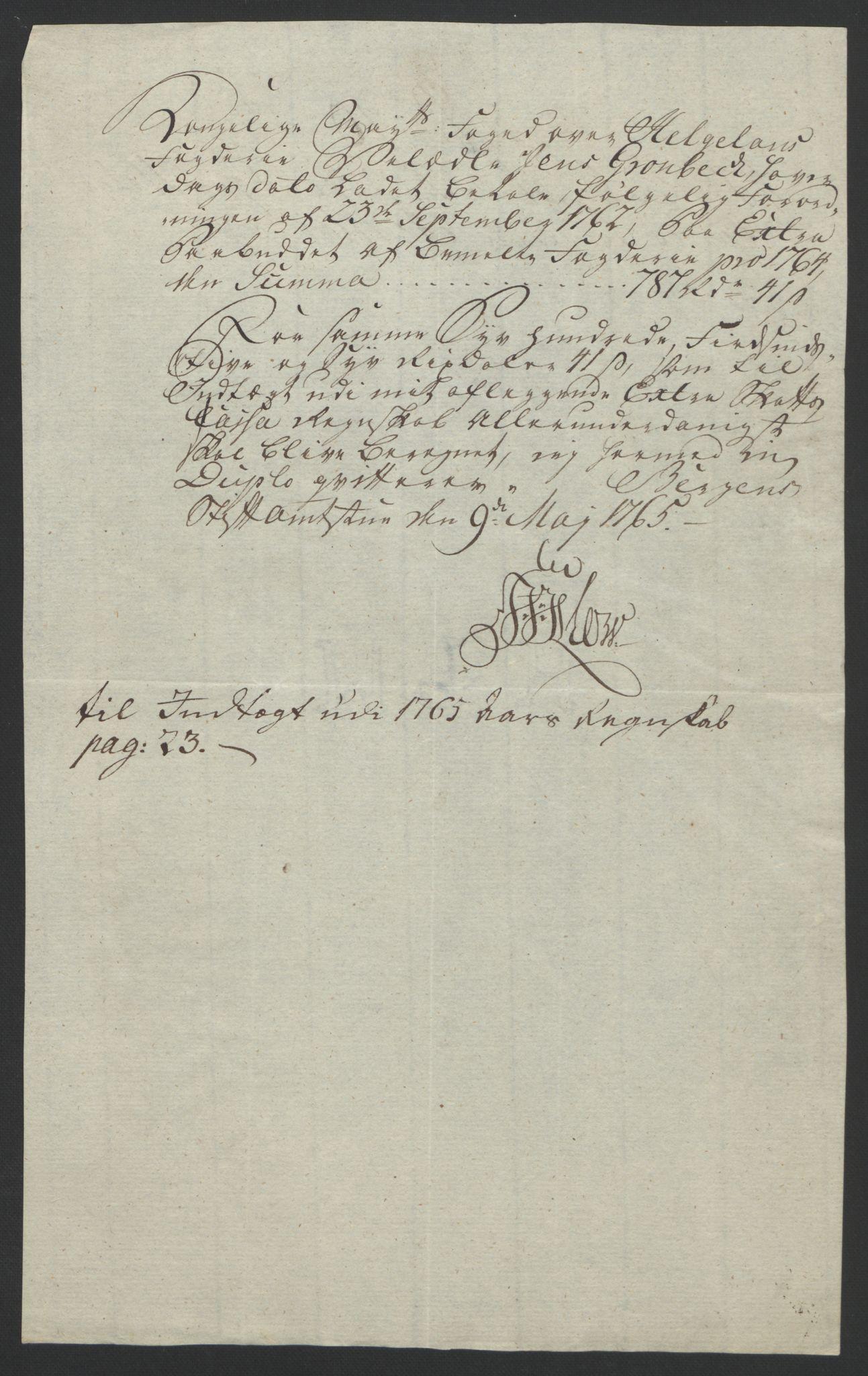 RA, Rentekammeret inntil 1814, Reviderte regnskaper, Fogderegnskap, R65/L4573: Ekstraskatten Helgeland, 1762-1772, s. 82