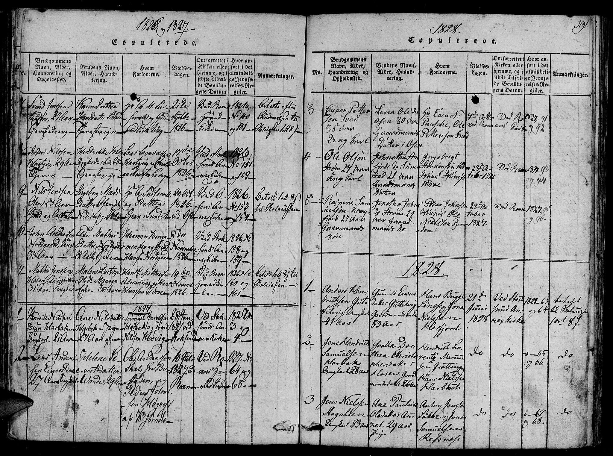 SAT, Ministerialprotokoller, klokkerbøker og fødselsregistre - Sør-Trøndelag, 657/L0702: Ministerialbok nr. 657A03, 1818-1831, s. 191