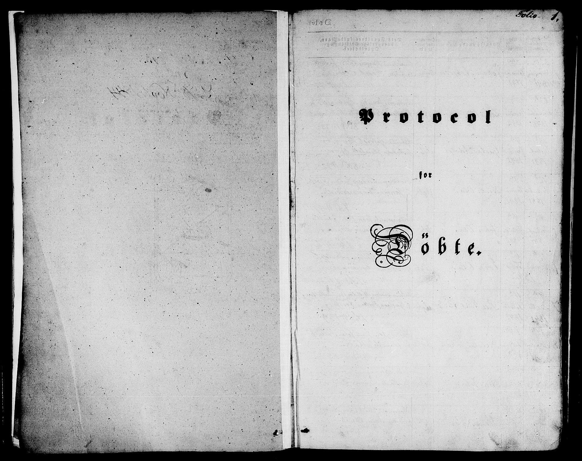 SAB, Nykirken Sokneprestembete, H/Hab: Klokkerbok nr. B 1, 1842-1858, s. 1