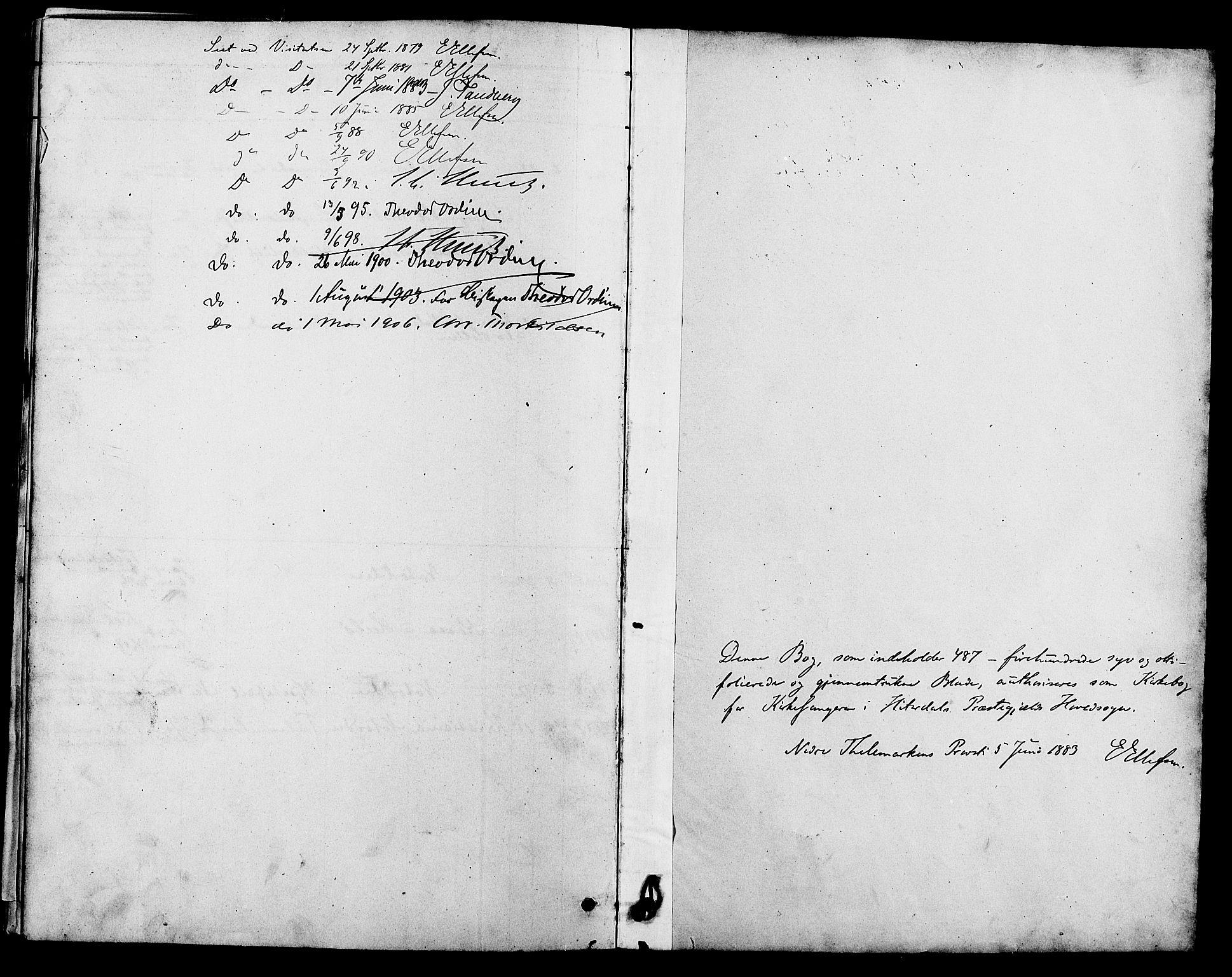 SAKO, Heddal kirkebøker, G/Ga/L0002: Klokkerbok nr. I 2, 1879-1908