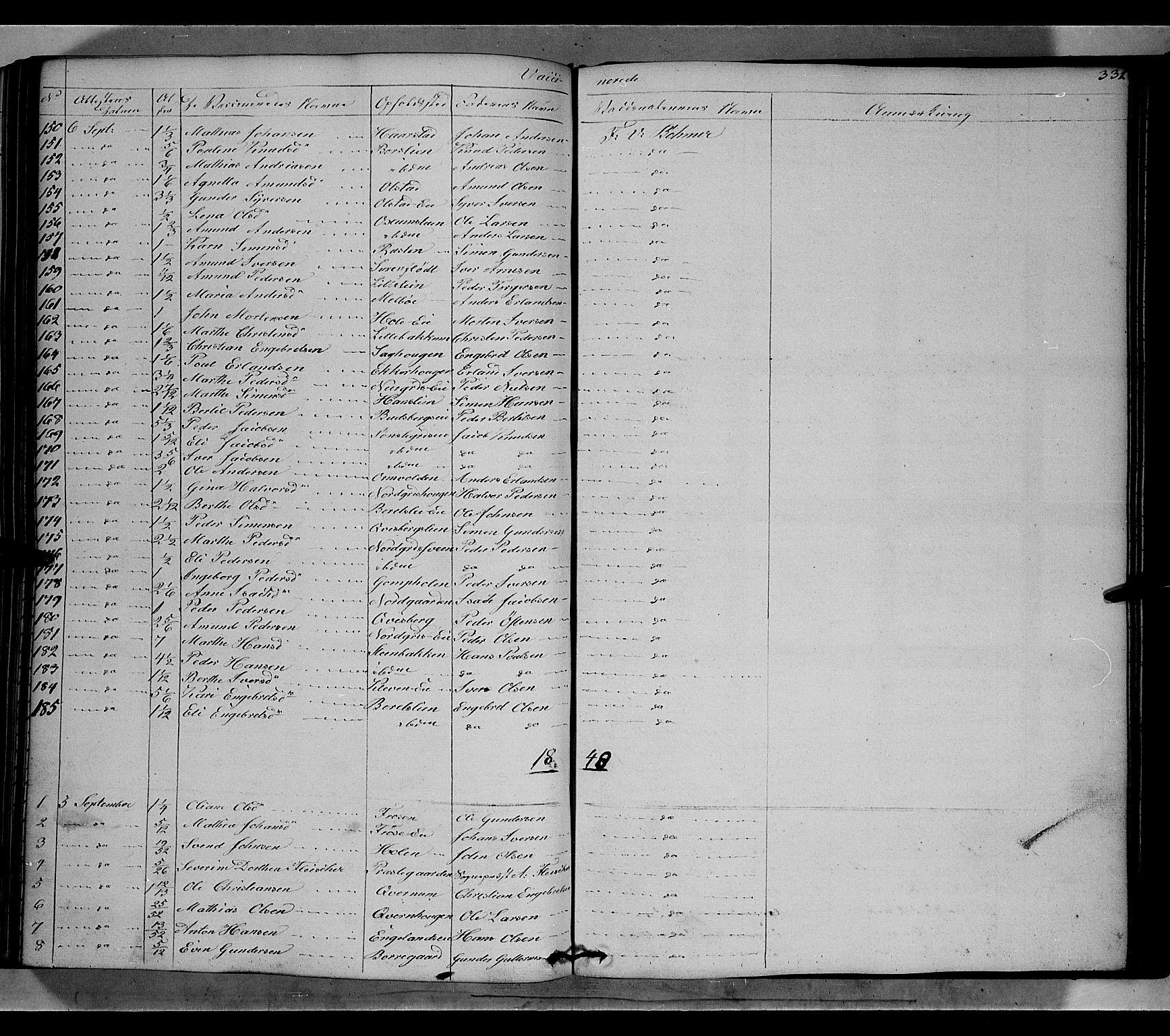 SAH, Gausdal prestekontor, Ministerialbok nr. 7, 1840-1850, s. 331