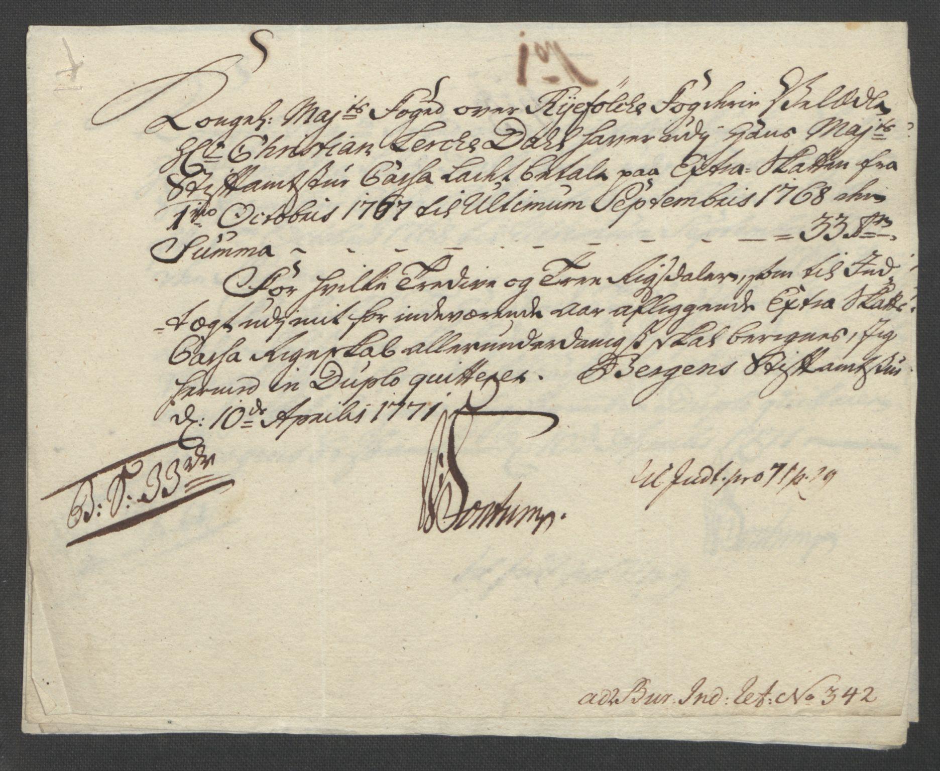 RA, Rentekammeret inntil 1814, Reviderte regnskaper, Fogderegnskap, R47/L2972: Ekstraskatten Ryfylke, 1762-1780, s. 215