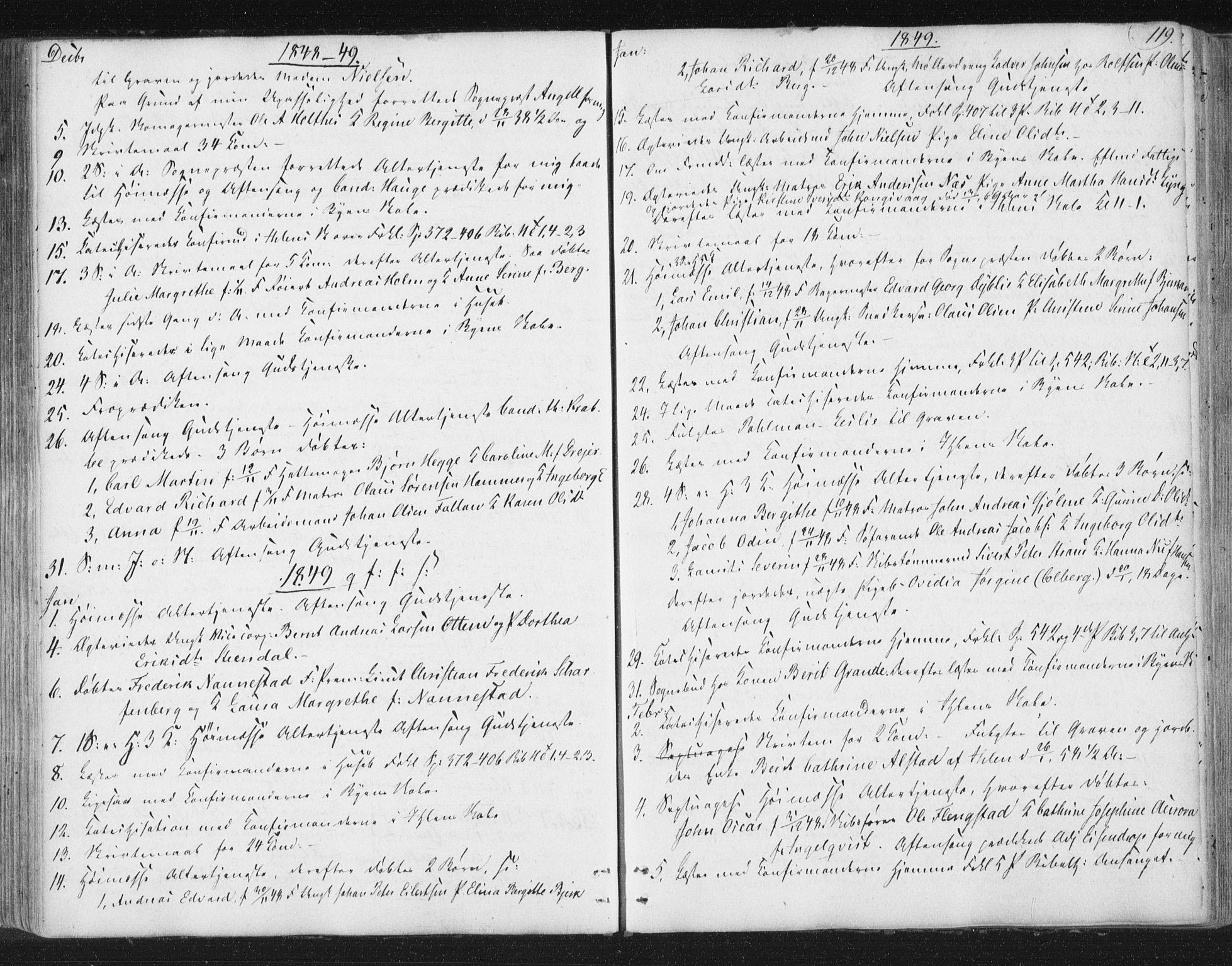 SAT, Ministerialprotokoller, klokkerbøker og fødselsregistre - Sør-Trøndelag, 602/L0127: Residerende kapellans bok nr. 602B01, 1821-1875, s. 119