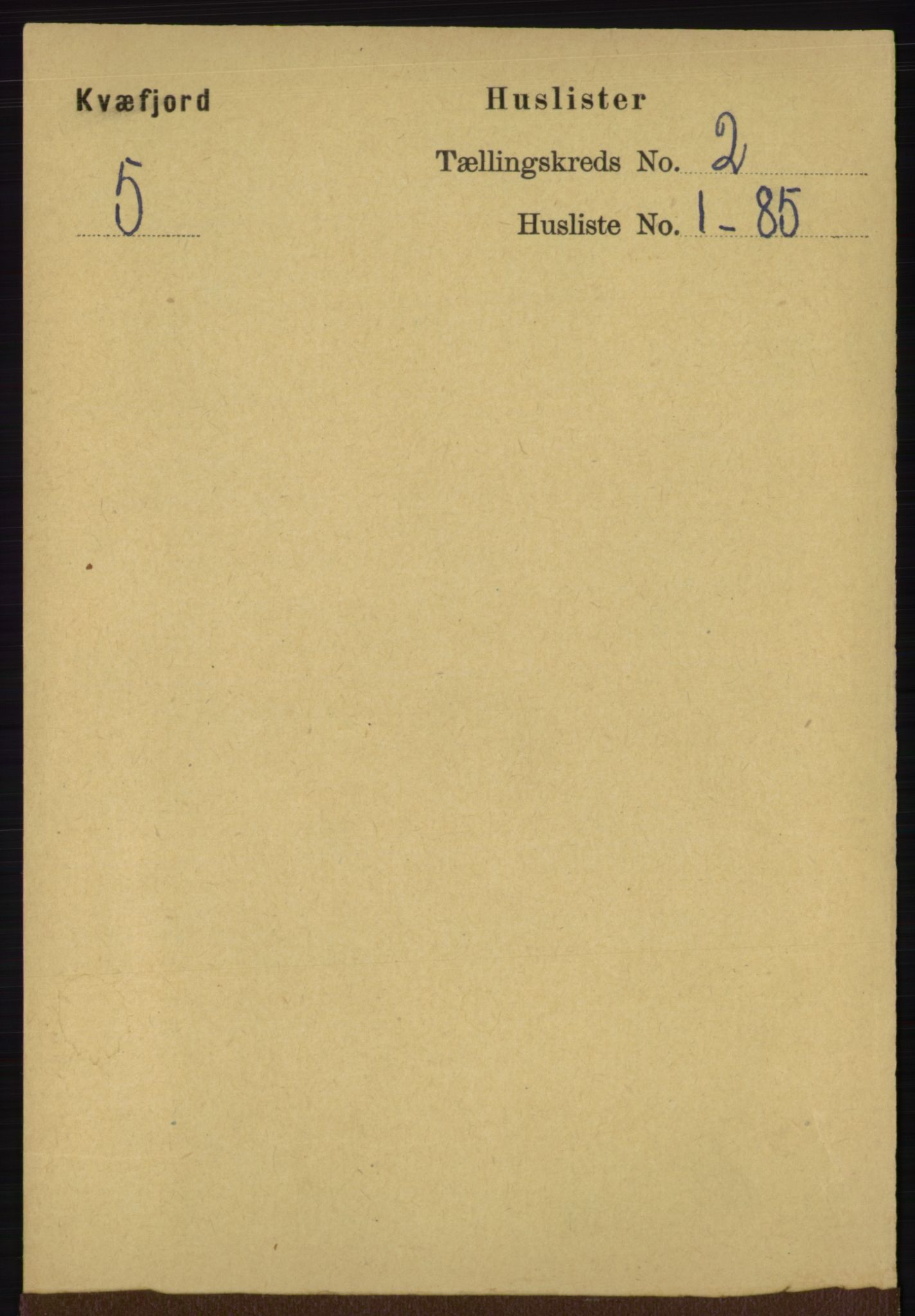 RA, Folketelling 1891 for 1911 Kvæfjord herred, 1891, s. 627