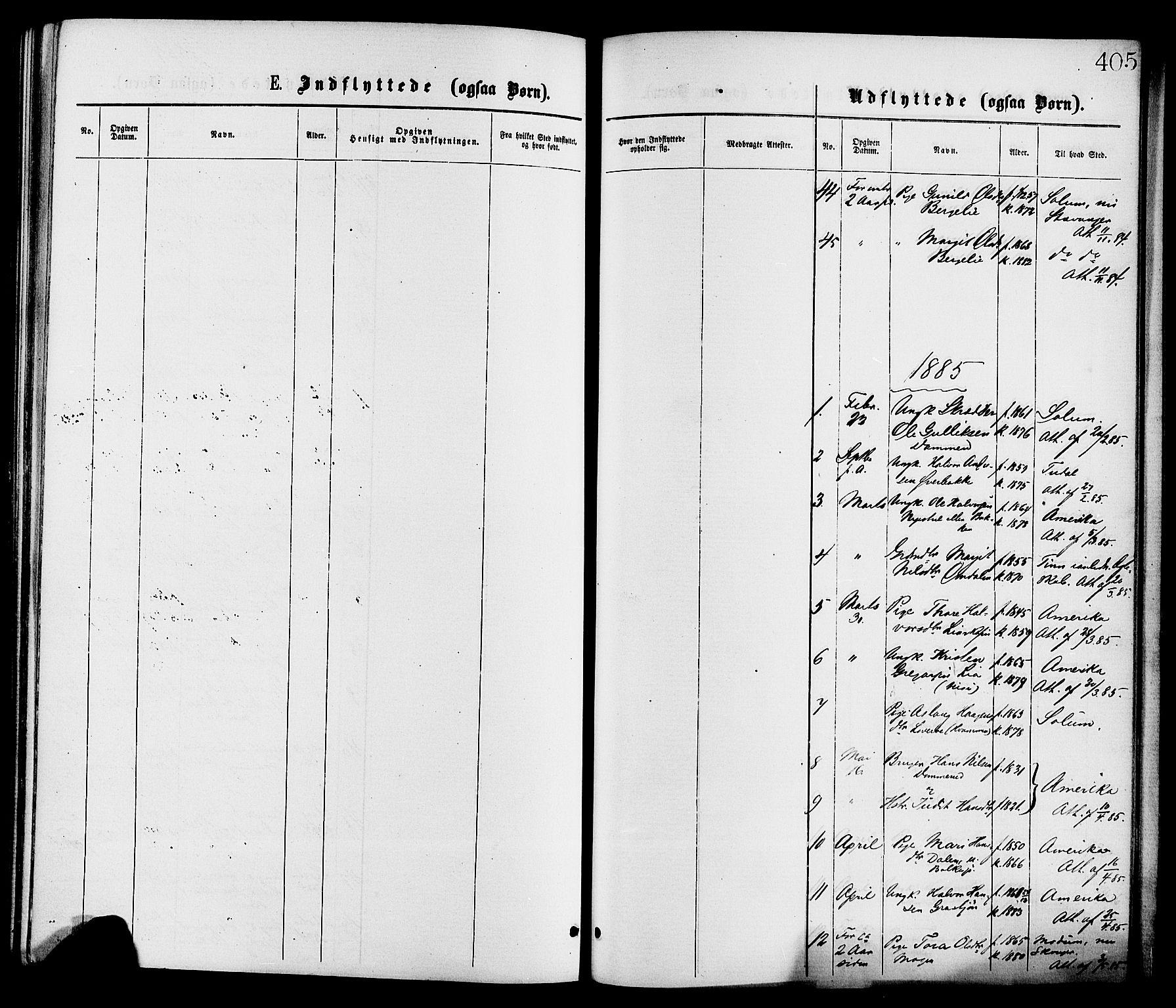 SAKO, Gransherad kirkebøker, F/Fa/L0004: Ministerialbok nr. I 4, 1871-1886, s. 405