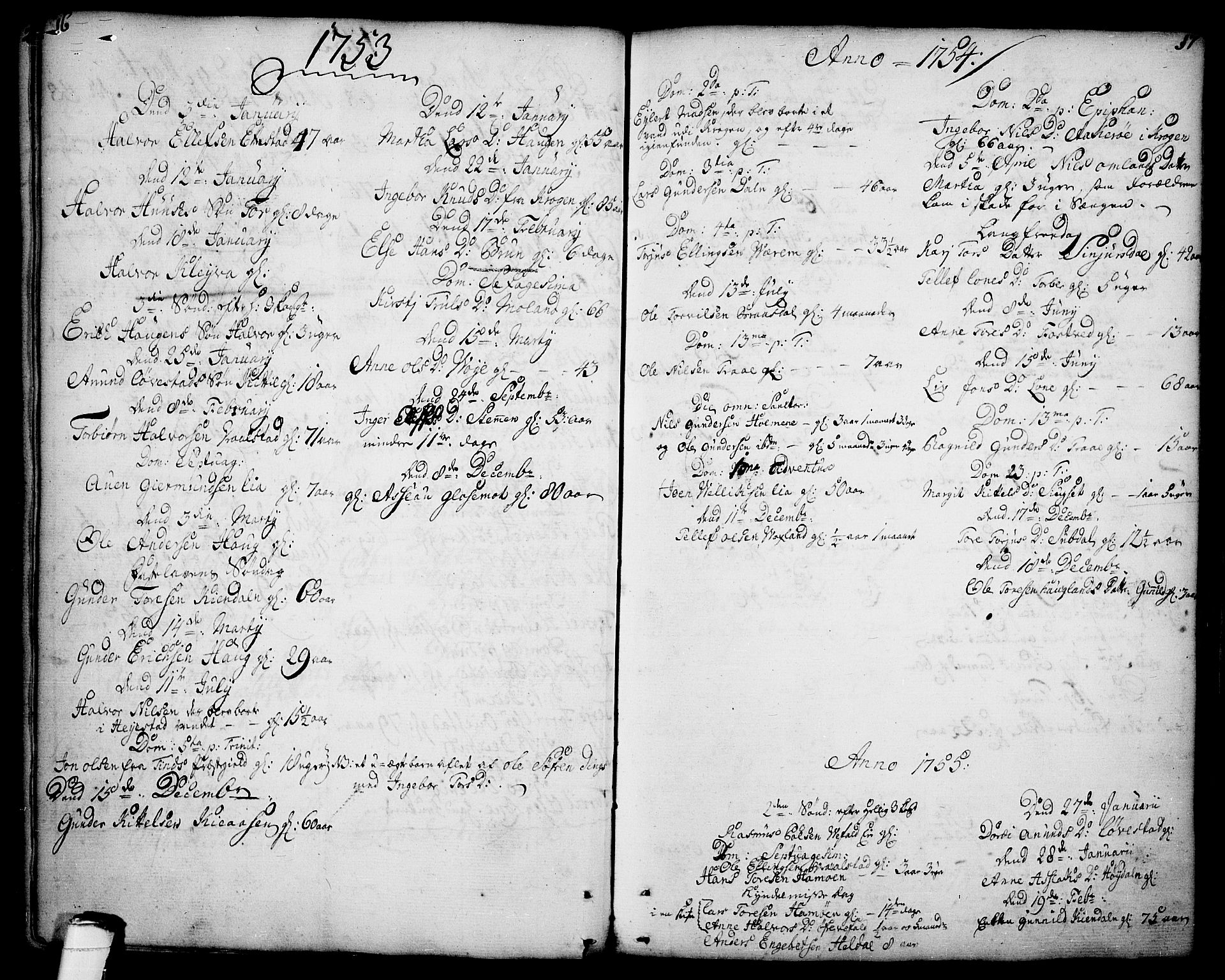 SAKO, Drangedal kirkebøker, F/Fa/L0001: Ministerialbok nr. 1, 1697-1767, s. 16-17