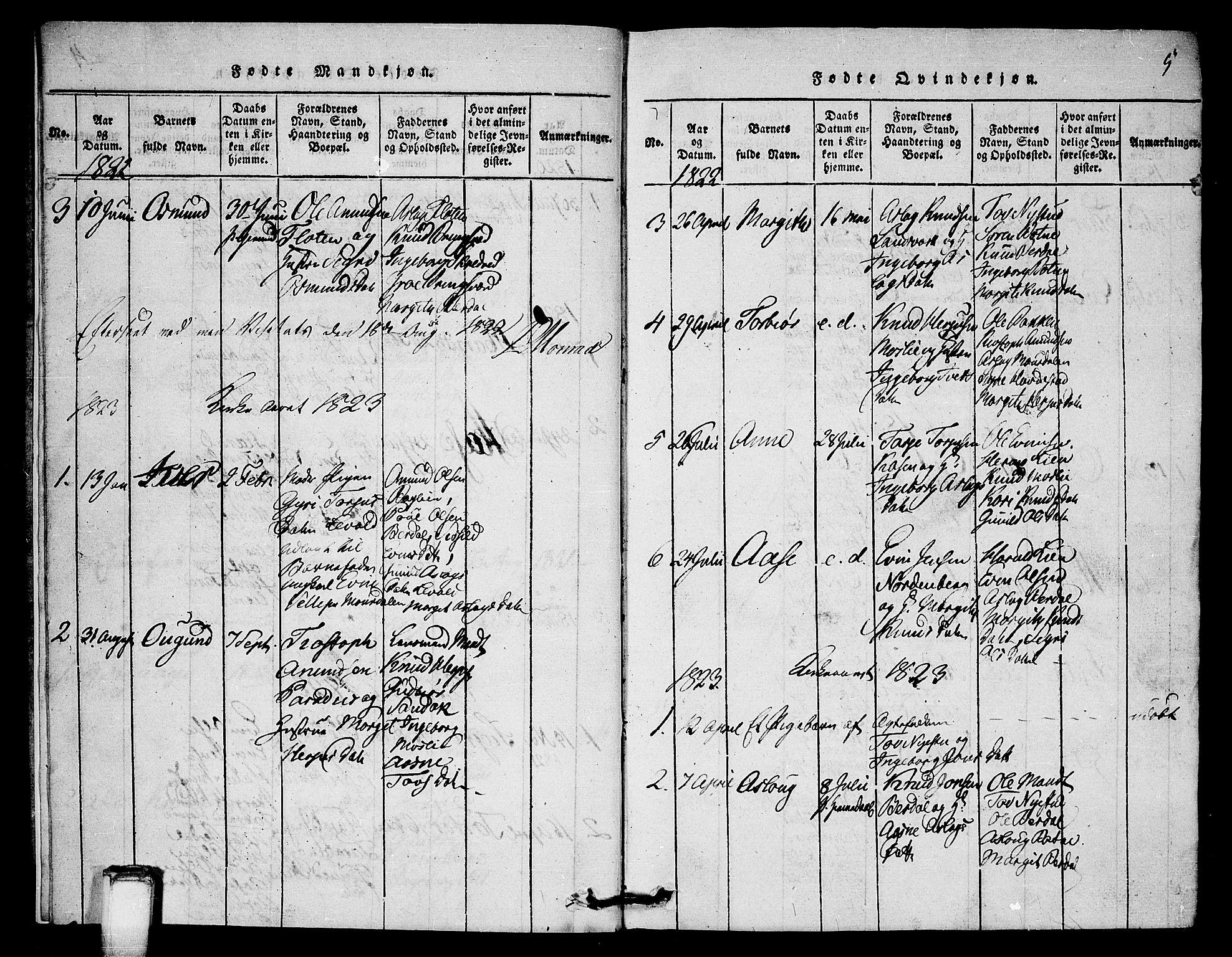 SAKO, Vinje kirkebøker, G/Gb/L0001: Klokkerbok nr. II 1, 1814-1843, s. 5