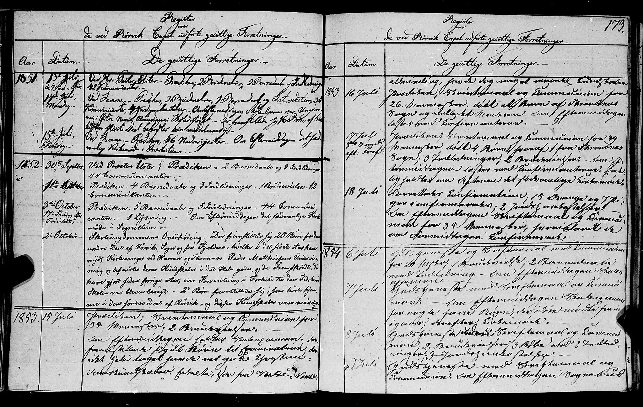 SAT, Ministerialprotokoller, klokkerbøker og fødselsregistre - Nord-Trøndelag, 762/L0538: Ministerialbok nr. 762A02 /1, 1833-1879, s. 173