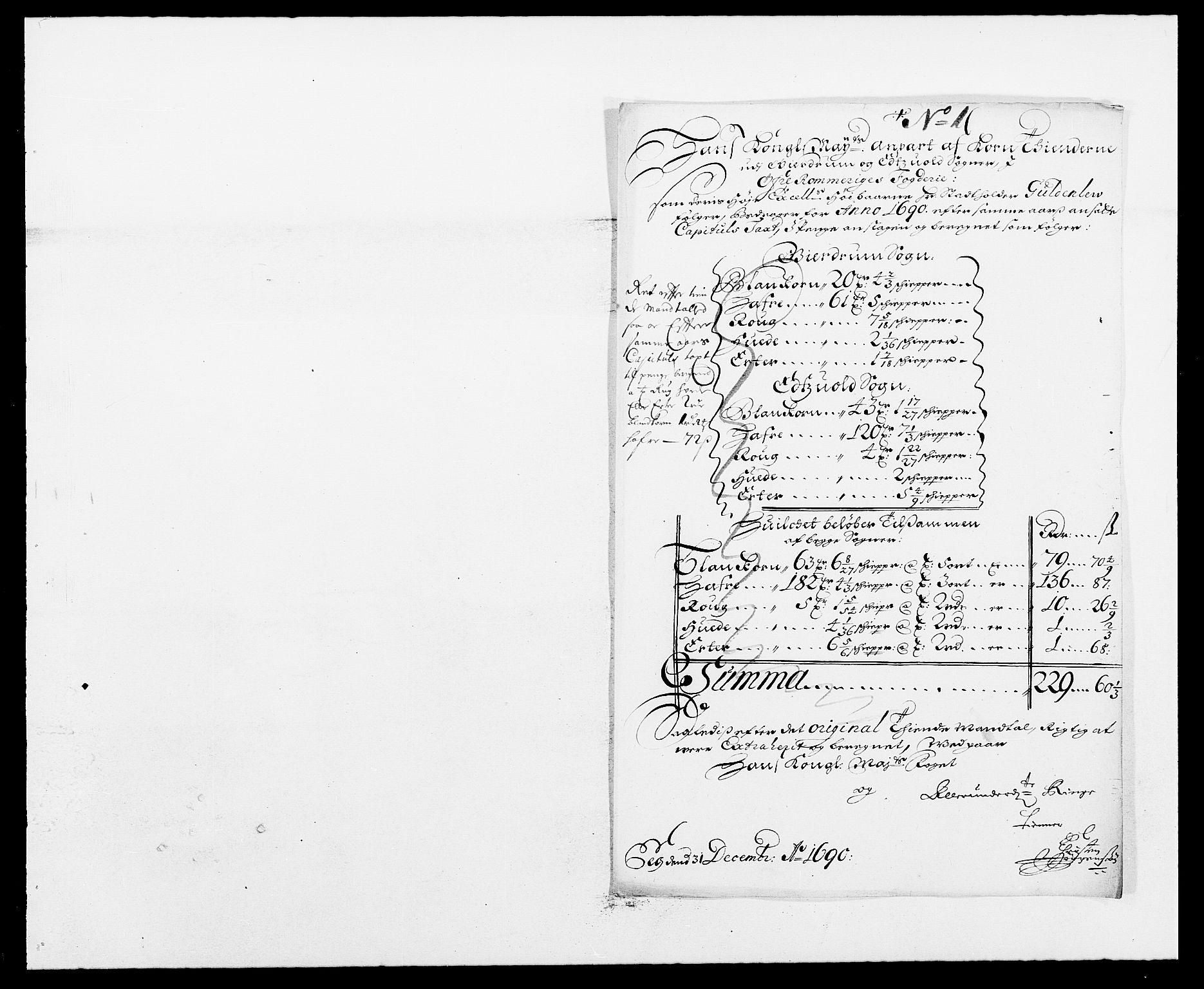 RA, Rentekammeret inntil 1814, Reviderte regnskaper, Fogderegnskap, R12/L0702: Fogderegnskap Øvre Romerike, 1690, s. 190