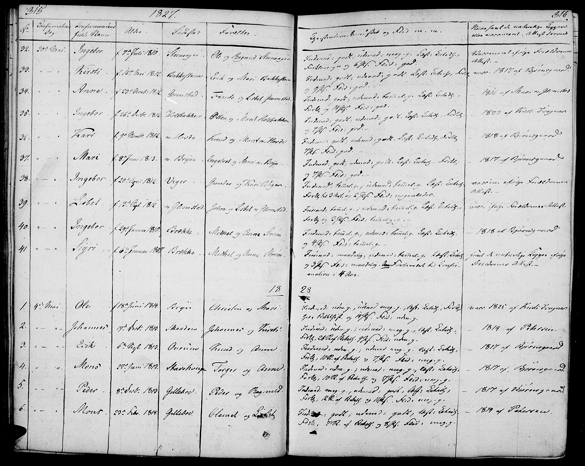 SAH, Øyer prestekontor, Ministerialbok nr. 4, 1824-1841, s. 315-316