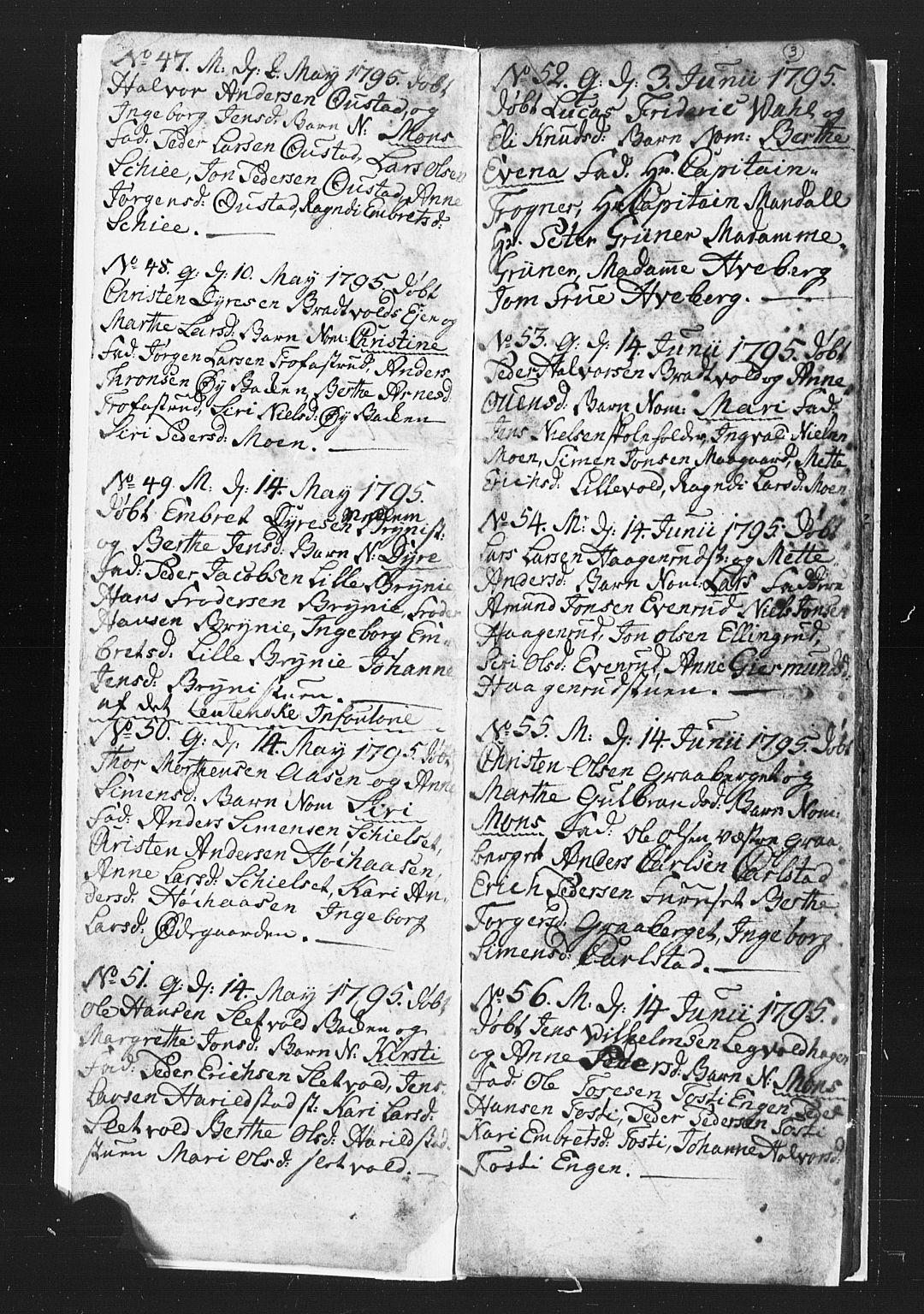 SAH, Romedal prestekontor, L/L0002: Klokkerbok nr. 2, 1795-1800, s. 2-3