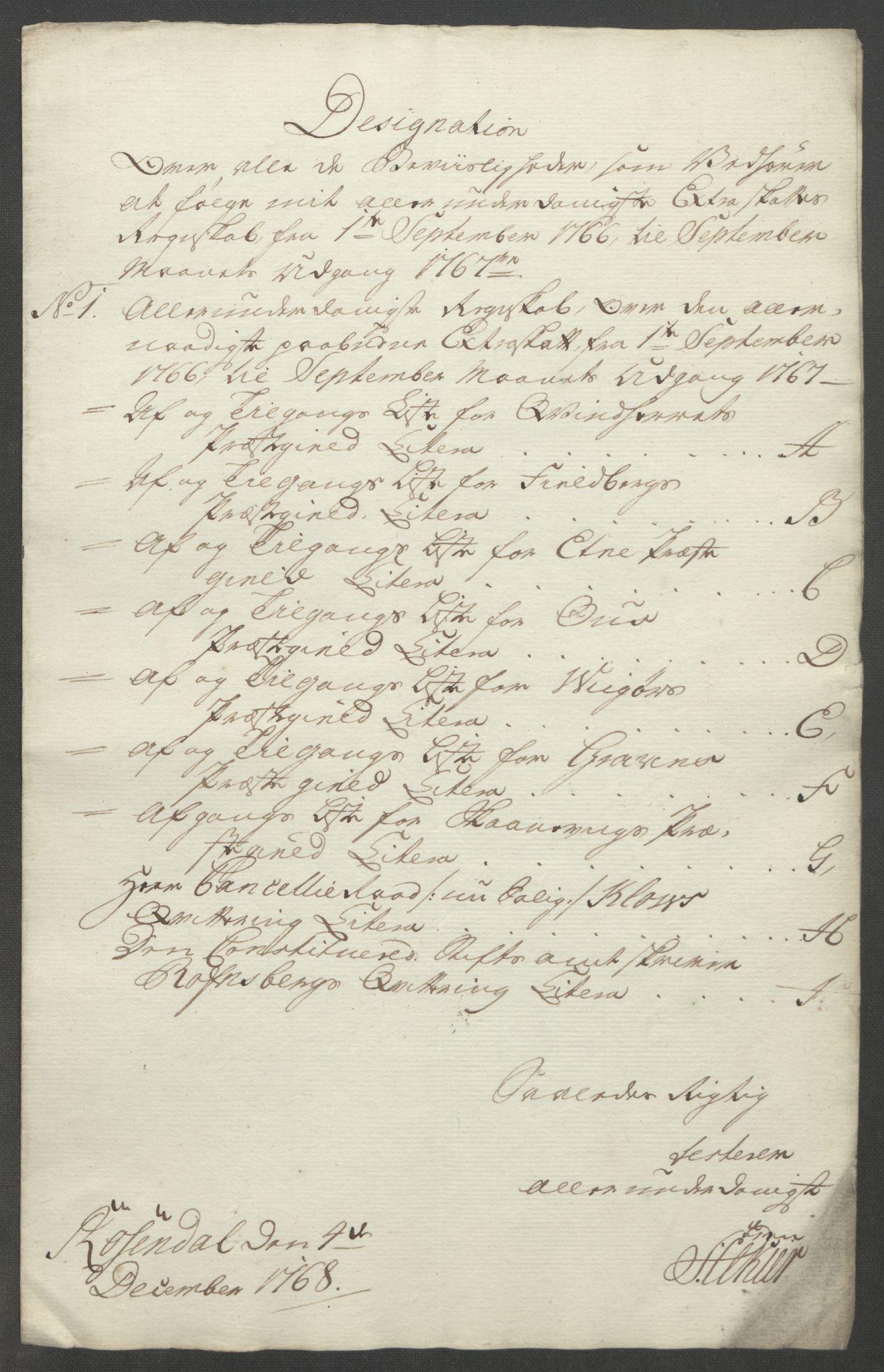 RA, Rentekammeret inntil 1814, Reviderte regnskaper, Fogderegnskap, R49/L3157: Ekstraskatten Rosendal Baroni, 1762-1772, s. 177