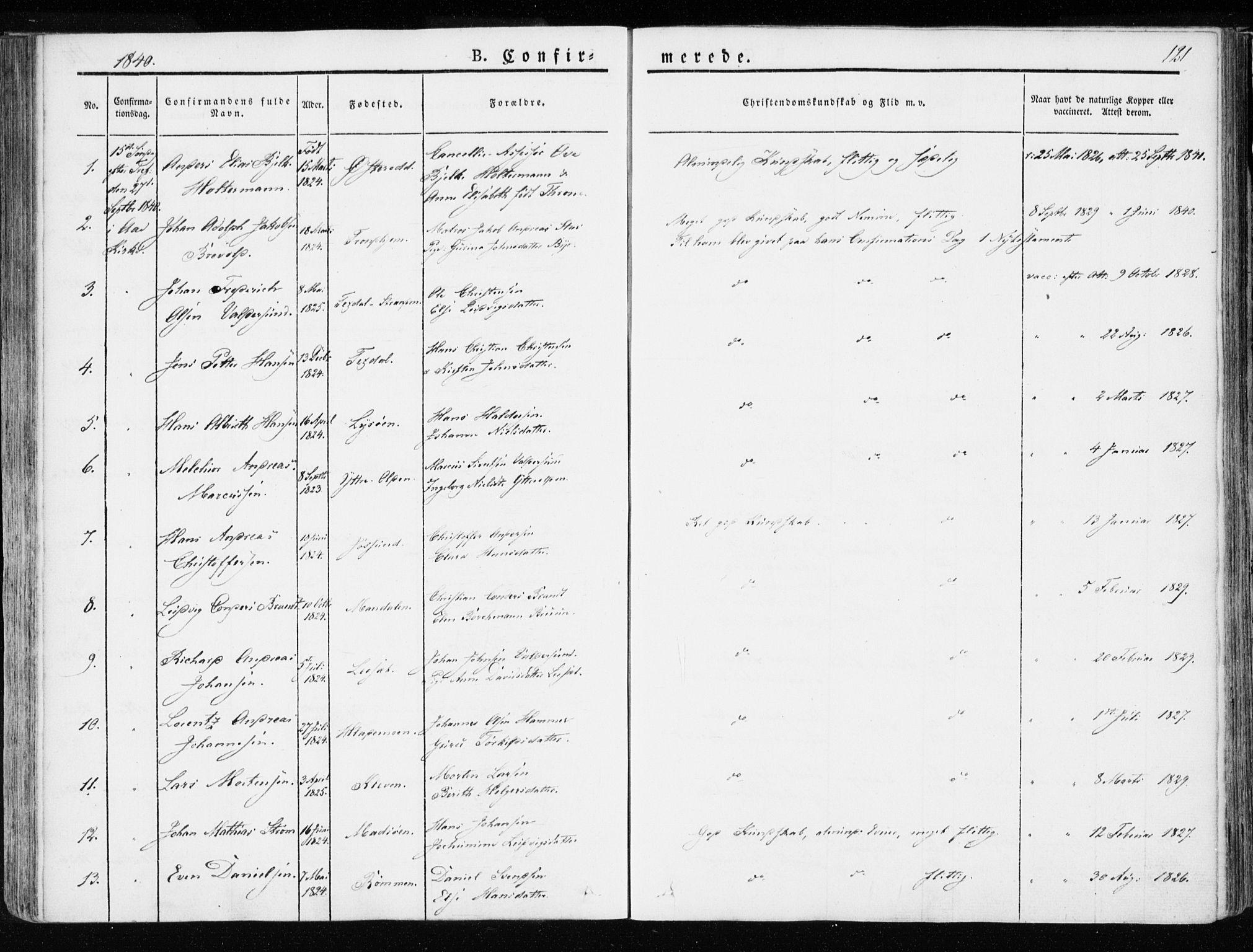 SAT, Ministerialprotokoller, klokkerbøker og fødselsregistre - Sør-Trøndelag, 655/L0676: Ministerialbok nr. 655A05, 1830-1847, s. 121