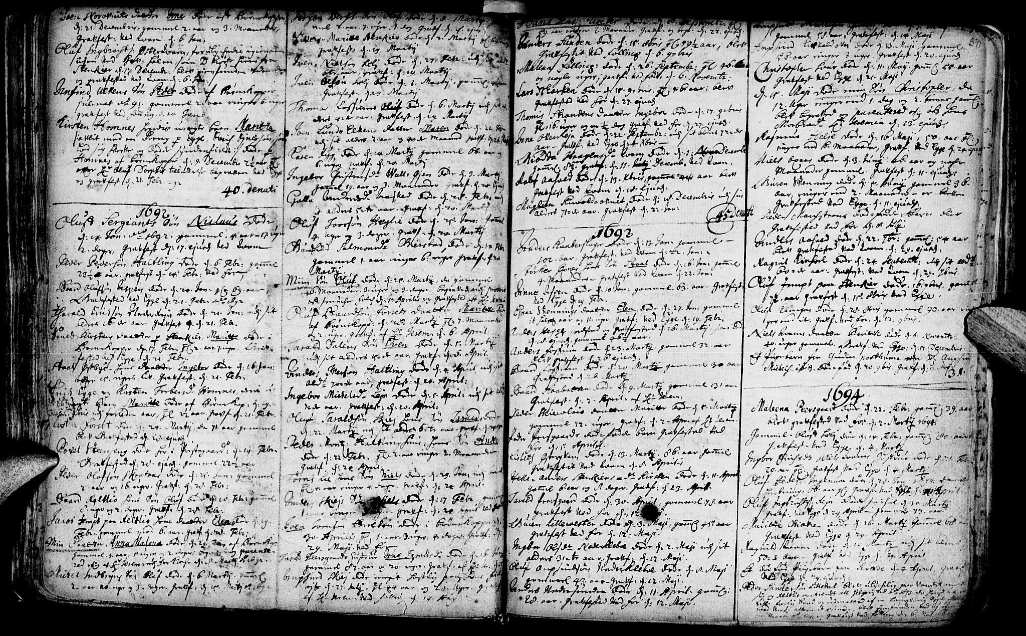 SAT, Ministerialprotokoller, klokkerbøker og fødselsregistre - Nord-Trøndelag, 746/L0439: Ministerialbok nr. 746A01, 1688-1759, s. 50