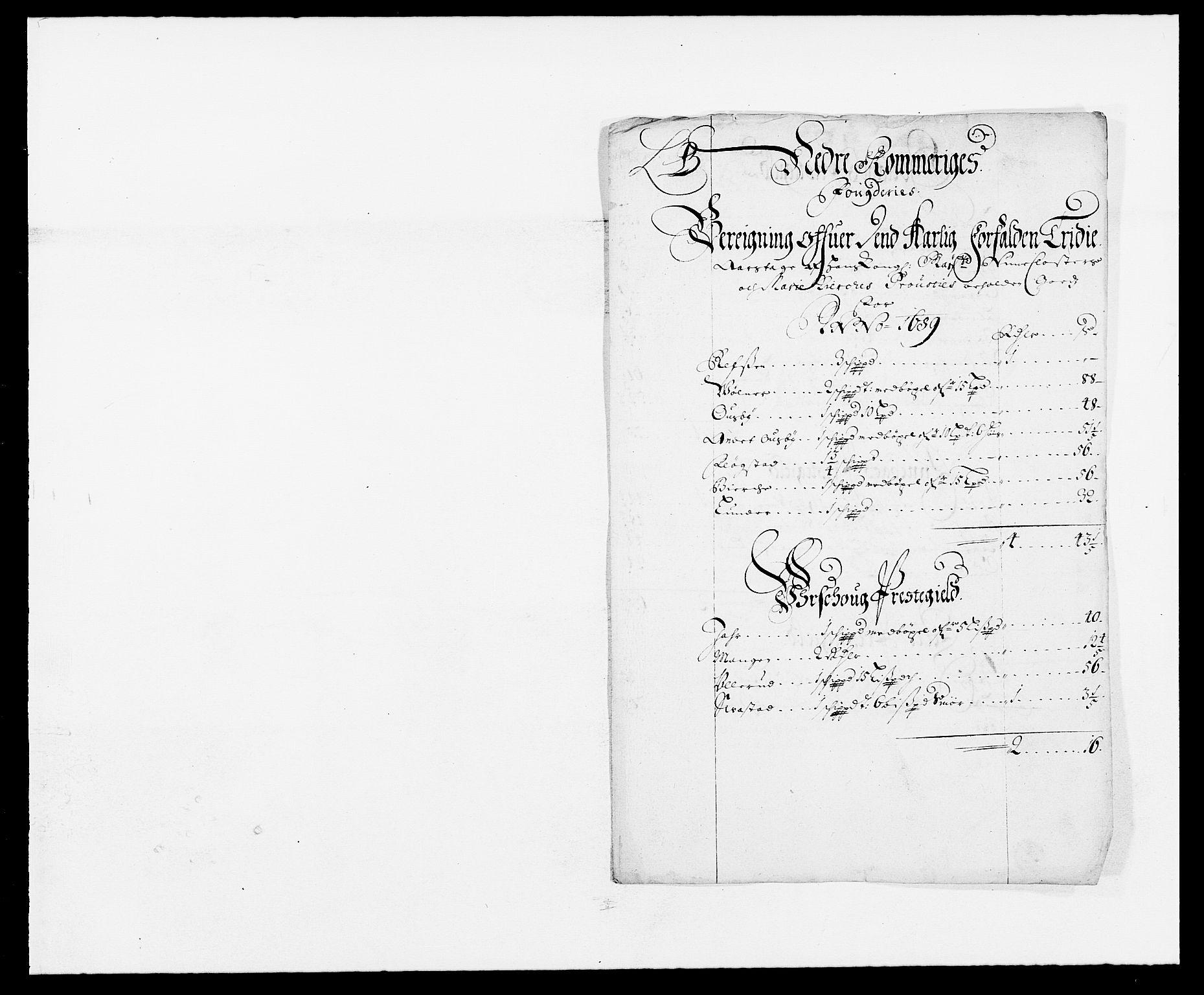 RA, Rentekammeret inntil 1814, Reviderte regnskaper, Fogderegnskap, R11/L0574: Fogderegnskap Nedre Romerike, 1689-1690, s. 9