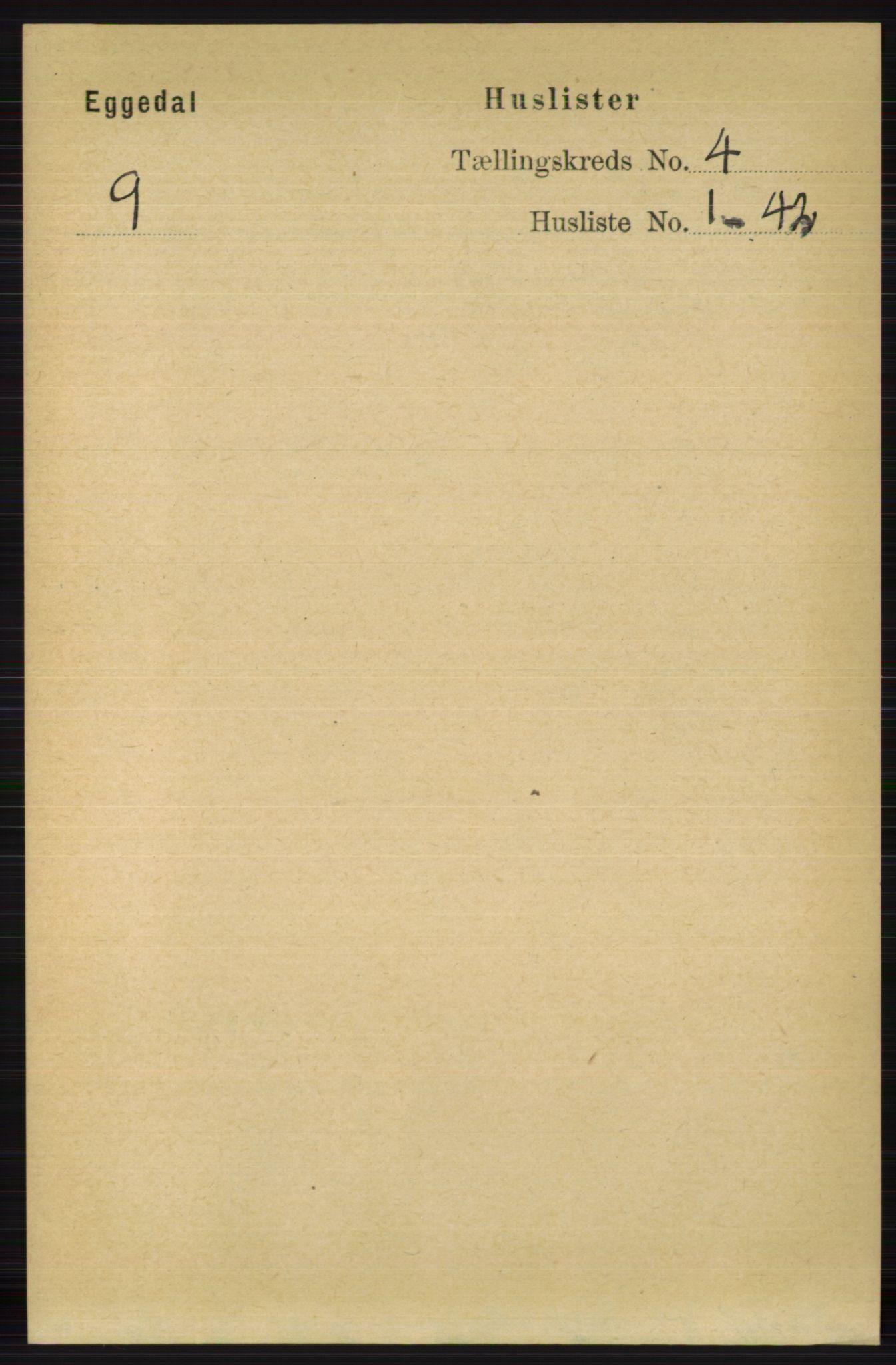 RA, Folketelling 1891 for 0621 Sigdal herred, 1891, s. 4623
