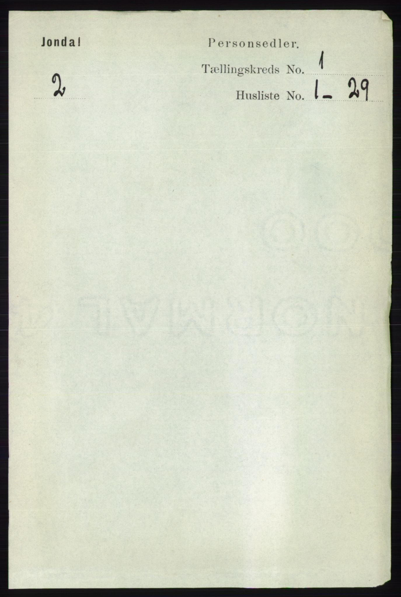 RA, Folketelling 1891 for 1227 Jondal herred, 1891, s. 137