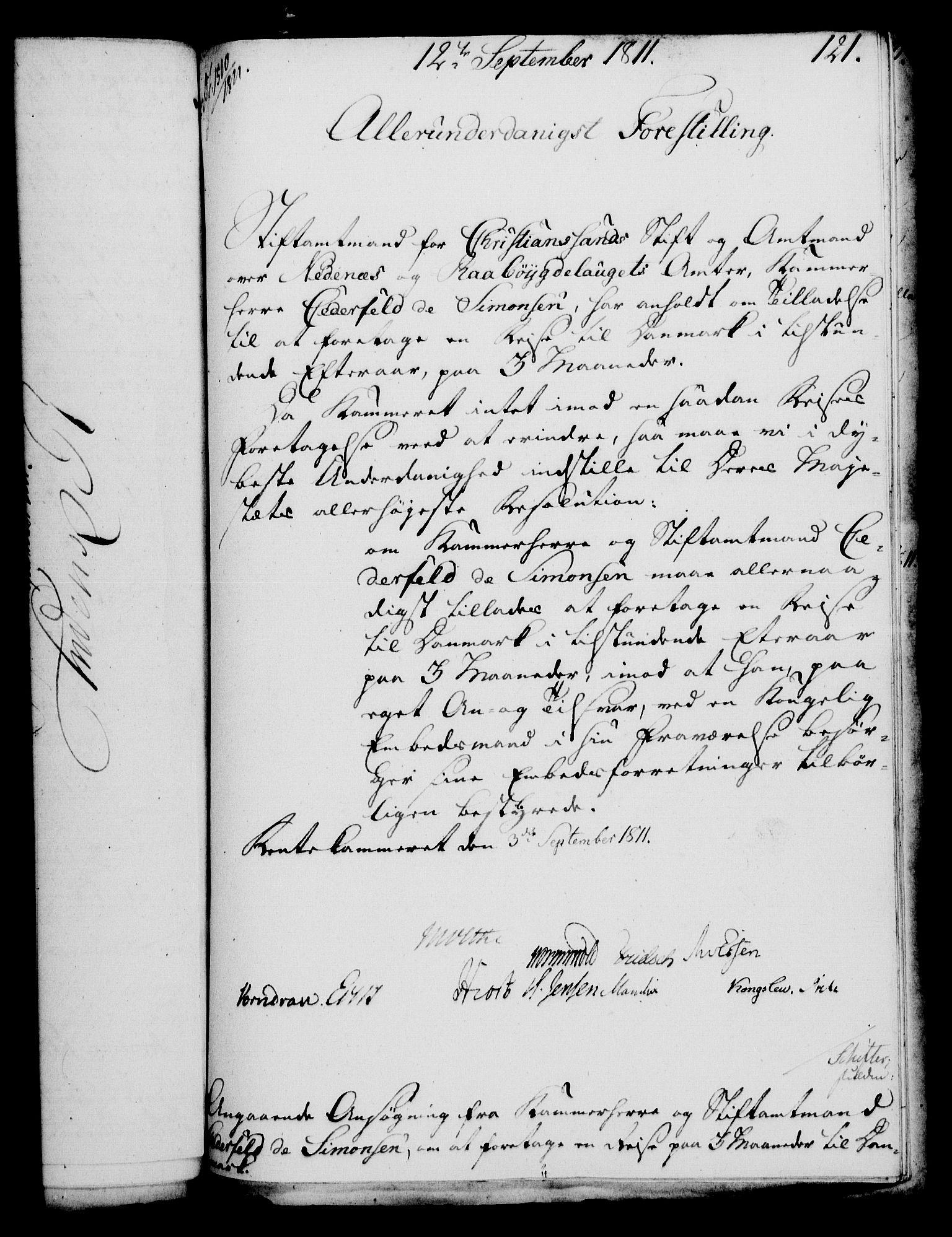 RA, Rentekammeret, Kammerkanselliet, G/Gf/Gfa/L0093: Norsk relasjons- og resolusjonsprotokoll (merket RK 52.93), 1811, s. 487