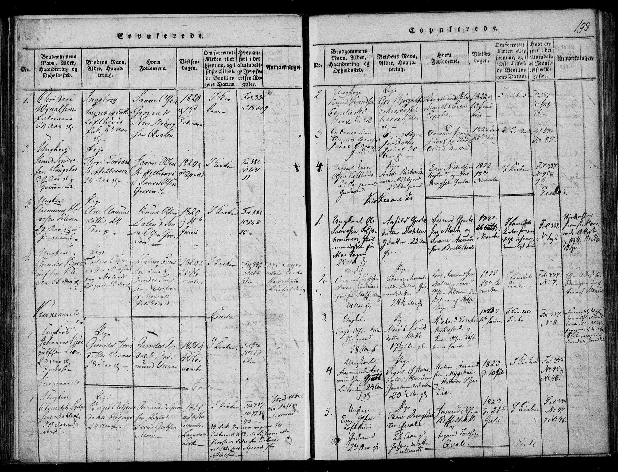 SAKO, Lårdal kirkebøker, F/Fb/L0001: Ministerialbok nr. II 1, 1815-1860, s. 193