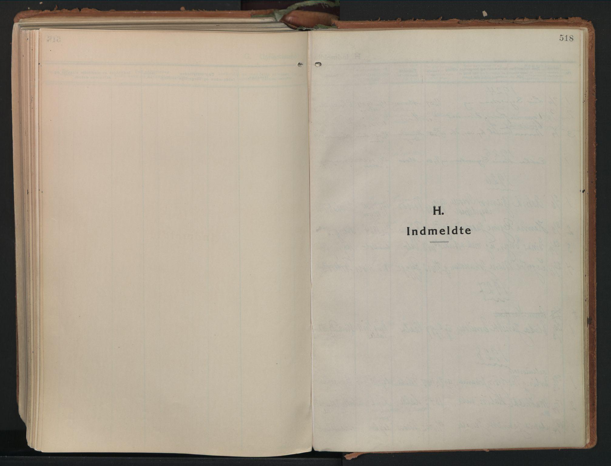 SAO, Moss prestekontor Kirkebøker, F/Fb/Fab/L0006: Ministerialbok nr. II 6, 1924-1932, s. 518