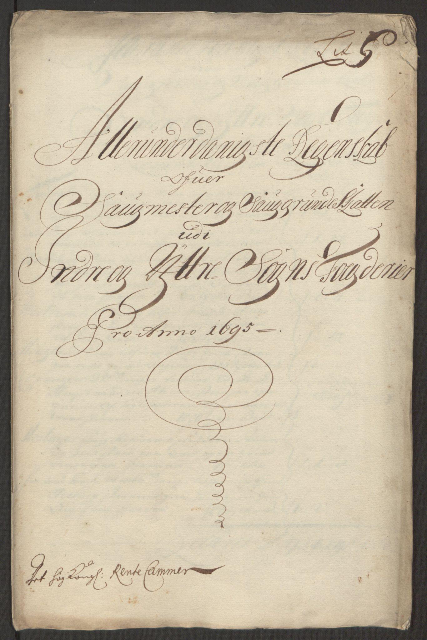 RA, Rentekammeret inntil 1814, Reviderte regnskaper, Fogderegnskap, R52/L3308: Fogderegnskap Sogn, 1695, s. 298