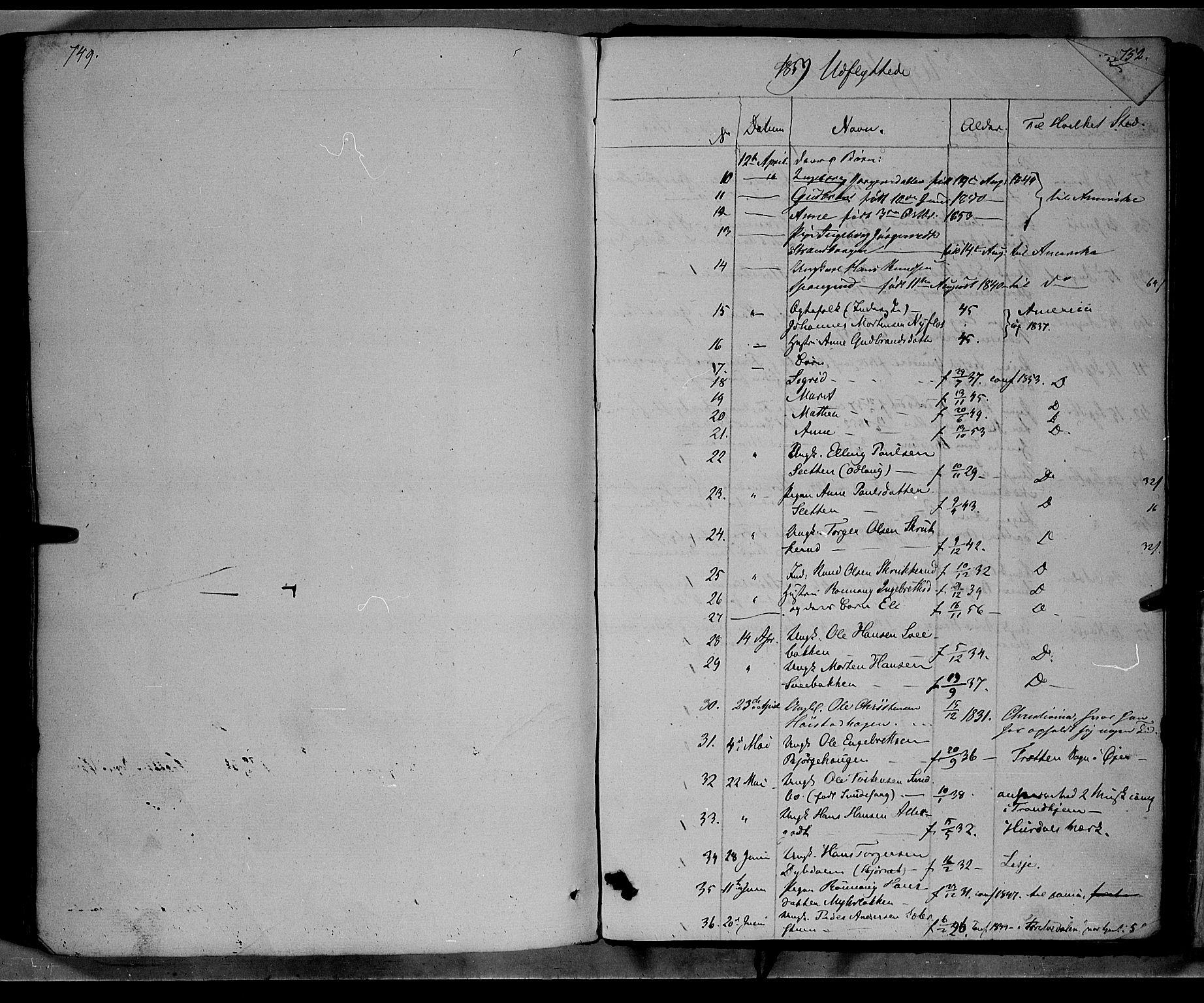 SAH, Ringebu prestekontor, Ministerialbok nr. 6, 1848-1859, s. 749-750
