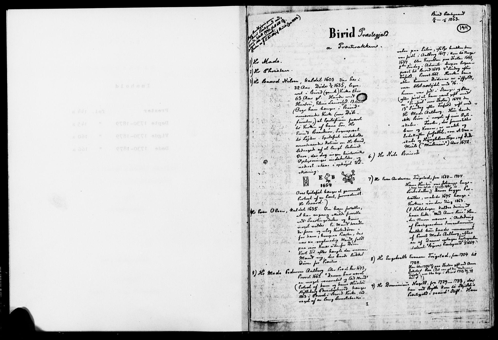 SAH, Biri prestekontor, Ministerialbok, 1730-1879, s. 144
