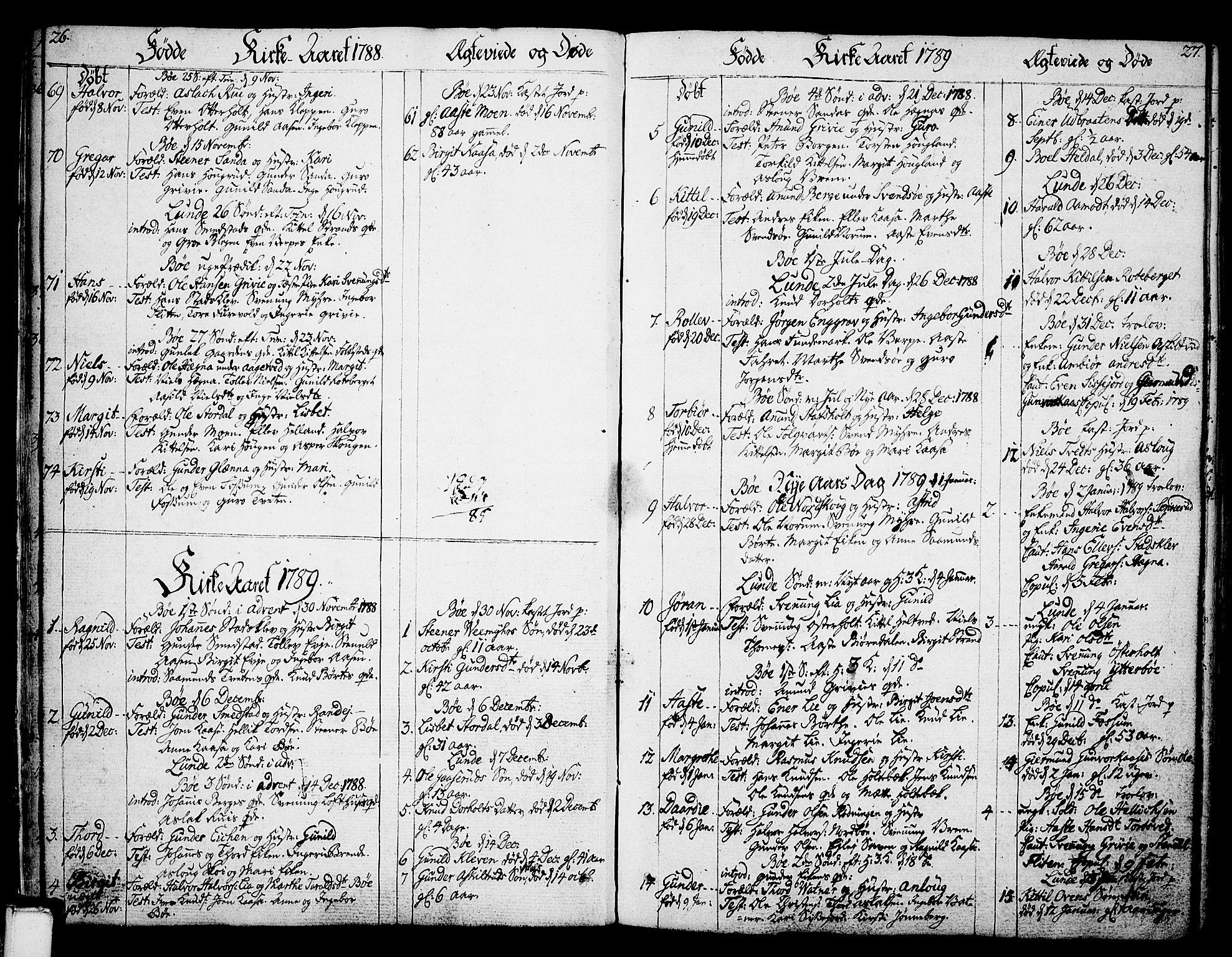 SAKO, Bø kirkebøker, F/Fa/L0005: Ministerialbok nr. 5, 1785-1815, s. 26-27