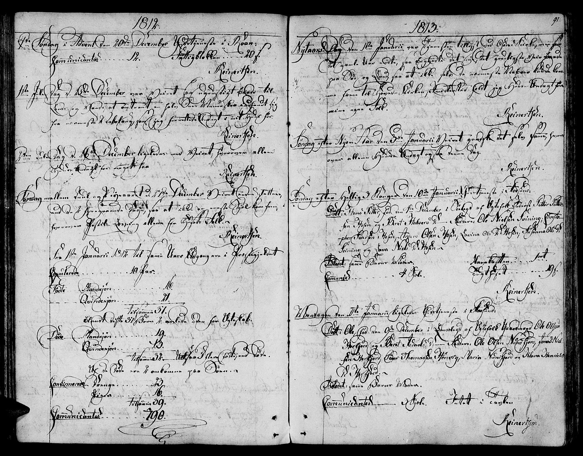 SAT, Ministerialprotokoller, klokkerbøker og fødselsregistre - Sør-Trøndelag, 657/L0701: Ministerialbok nr. 657A02, 1802-1831, s. 91