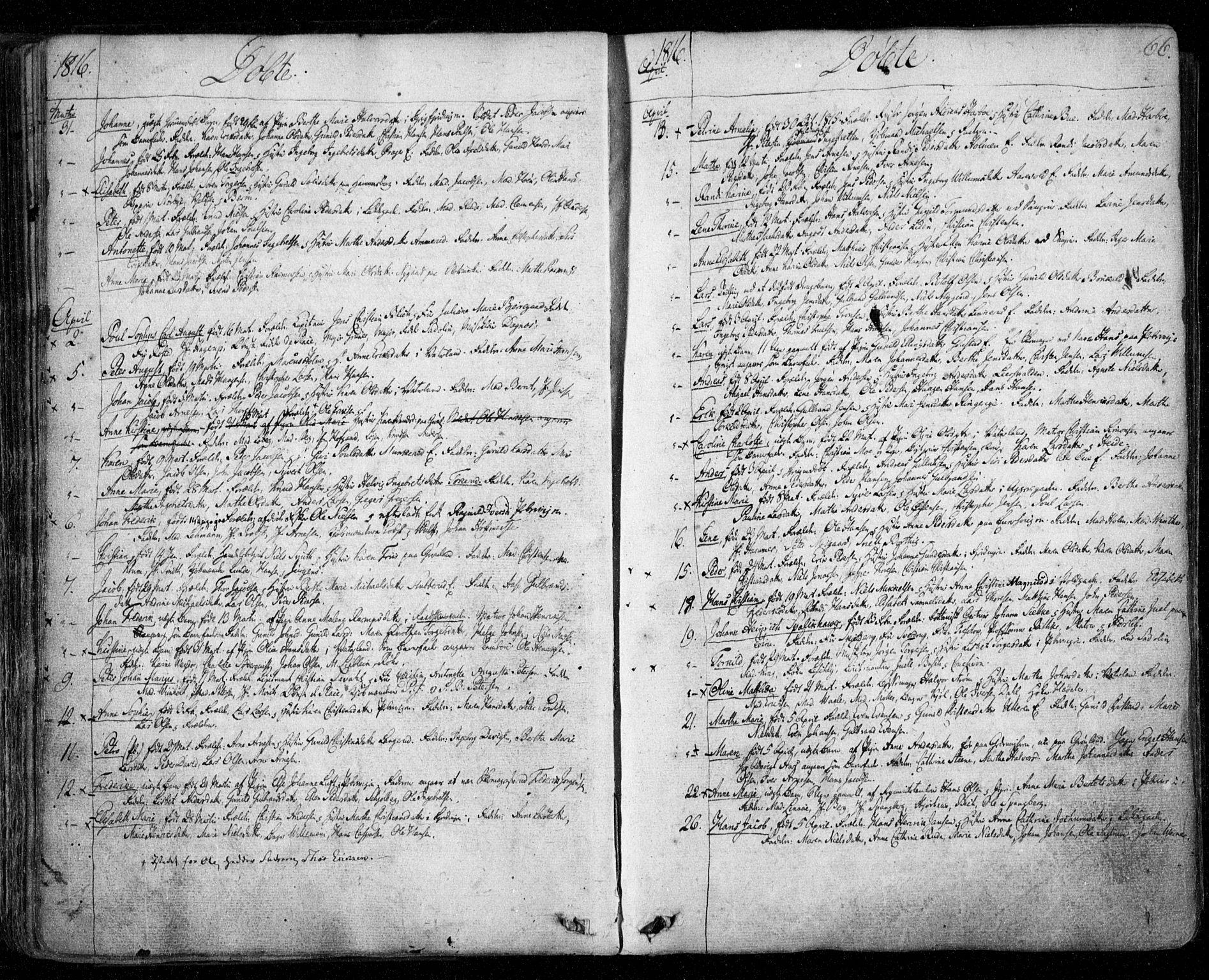 SAO, Aker prestekontor kirkebøker, F/L0011: Ministerialbok nr. 11, 1810-1819, s. 66