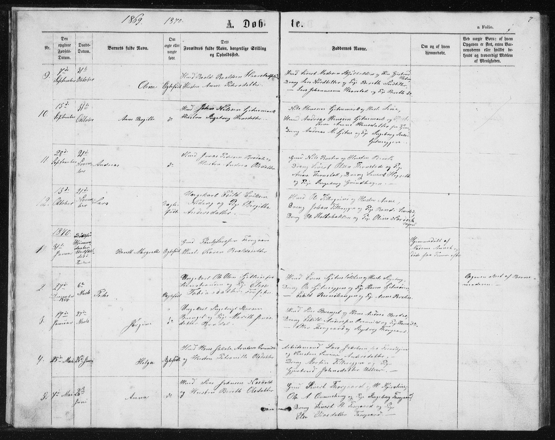 SAT, Ministerialprotokoller, klokkerbøker og fødselsregistre - Sør-Trøndelag, 621/L0459: Klokkerbok nr. 621C02, 1866-1895, s. 7