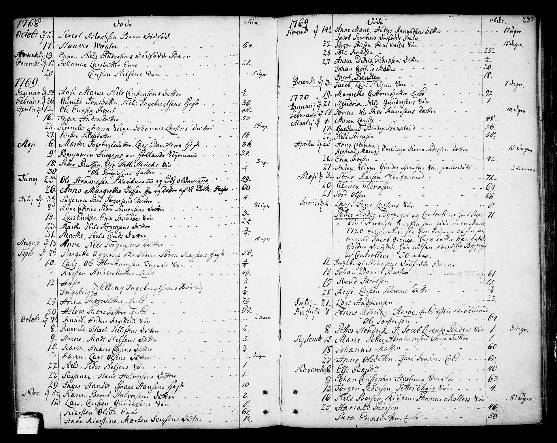 SAKO, Kragerø kirkebøker, F/Fa/L0002: Ministerialbok nr. 2, 1767-1802, s. 237