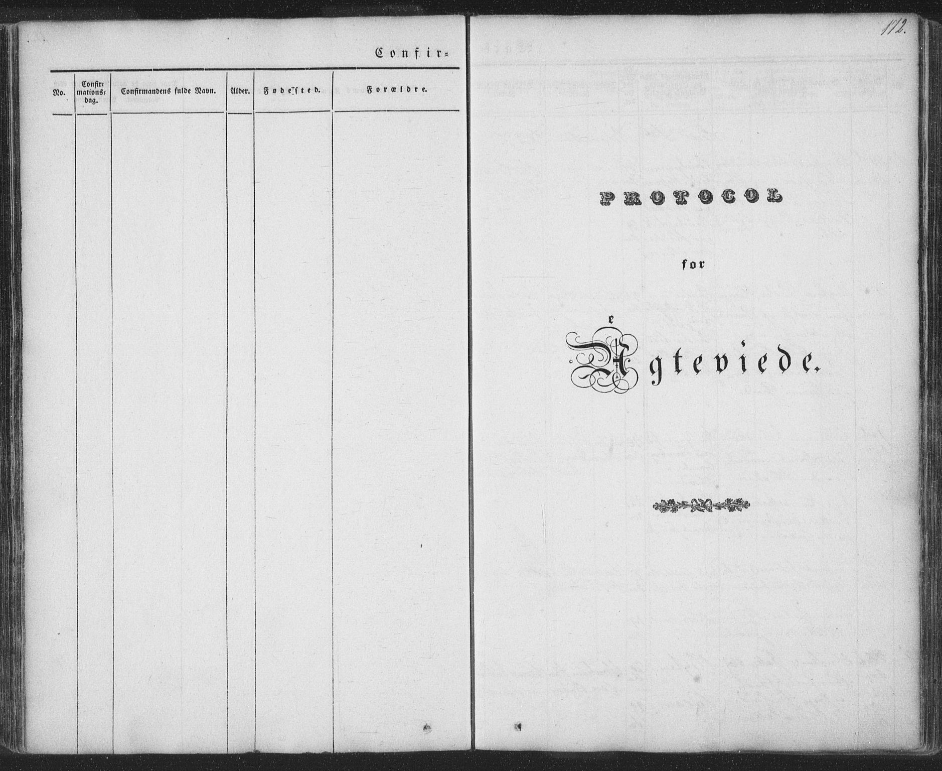 SAT, Ministerialprotokoller, klokkerbøker og fødselsregistre - Nordland, 885/L1202: Ministerialbok nr. 885A03, 1838-1859, s. 172
