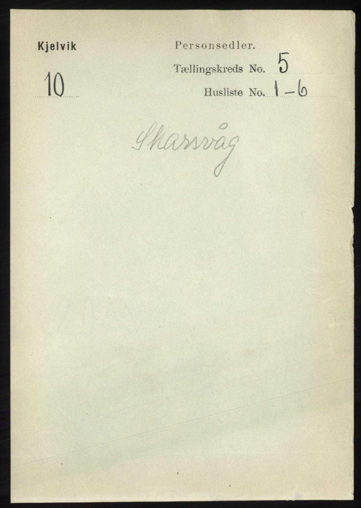 RA, Folketelling 1891 for 2019 Kjelvik herred, 1891, s. 545